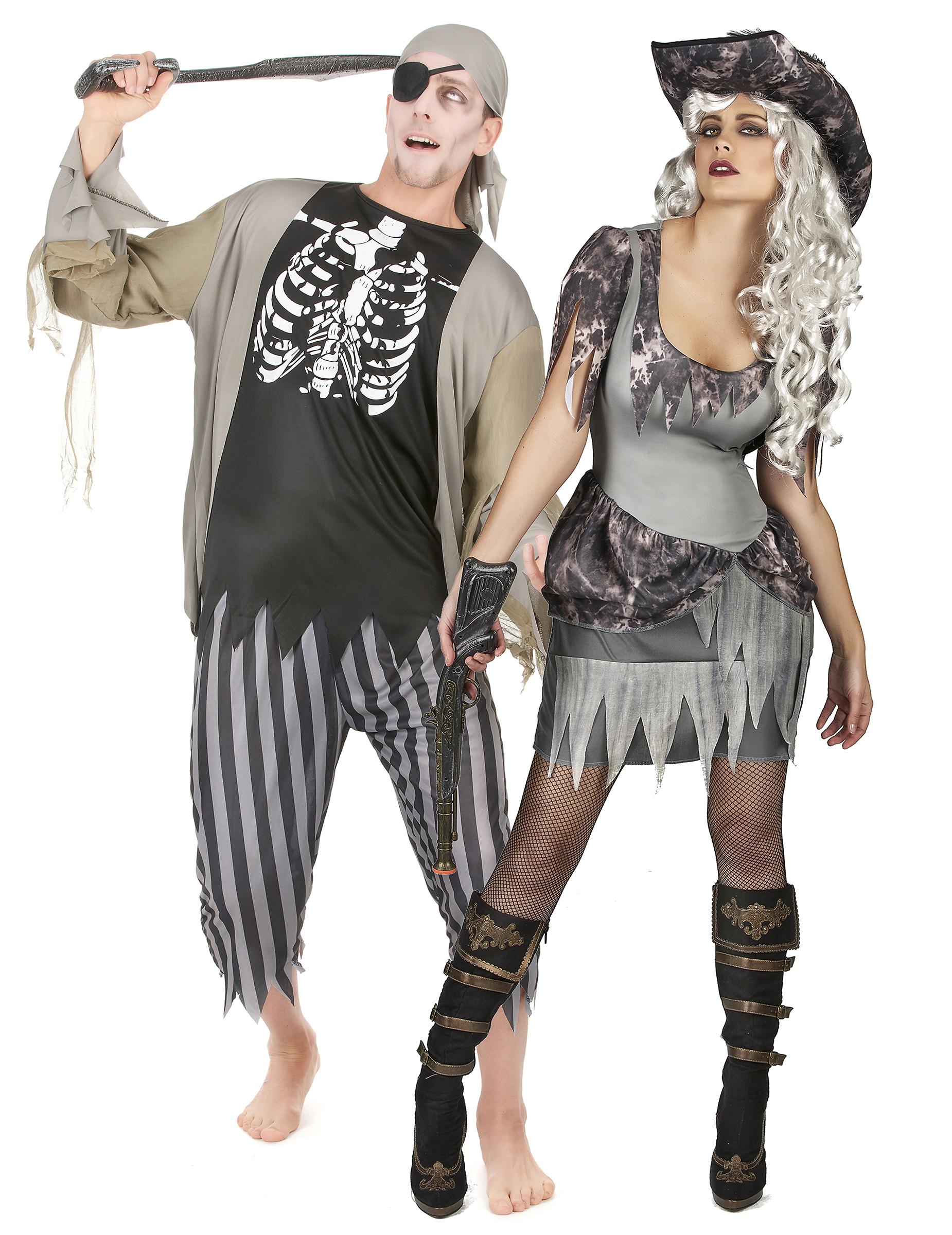 halloween paarkost m zombie pirat f r erwachsene. Black Bedroom Furniture Sets. Home Design Ideas