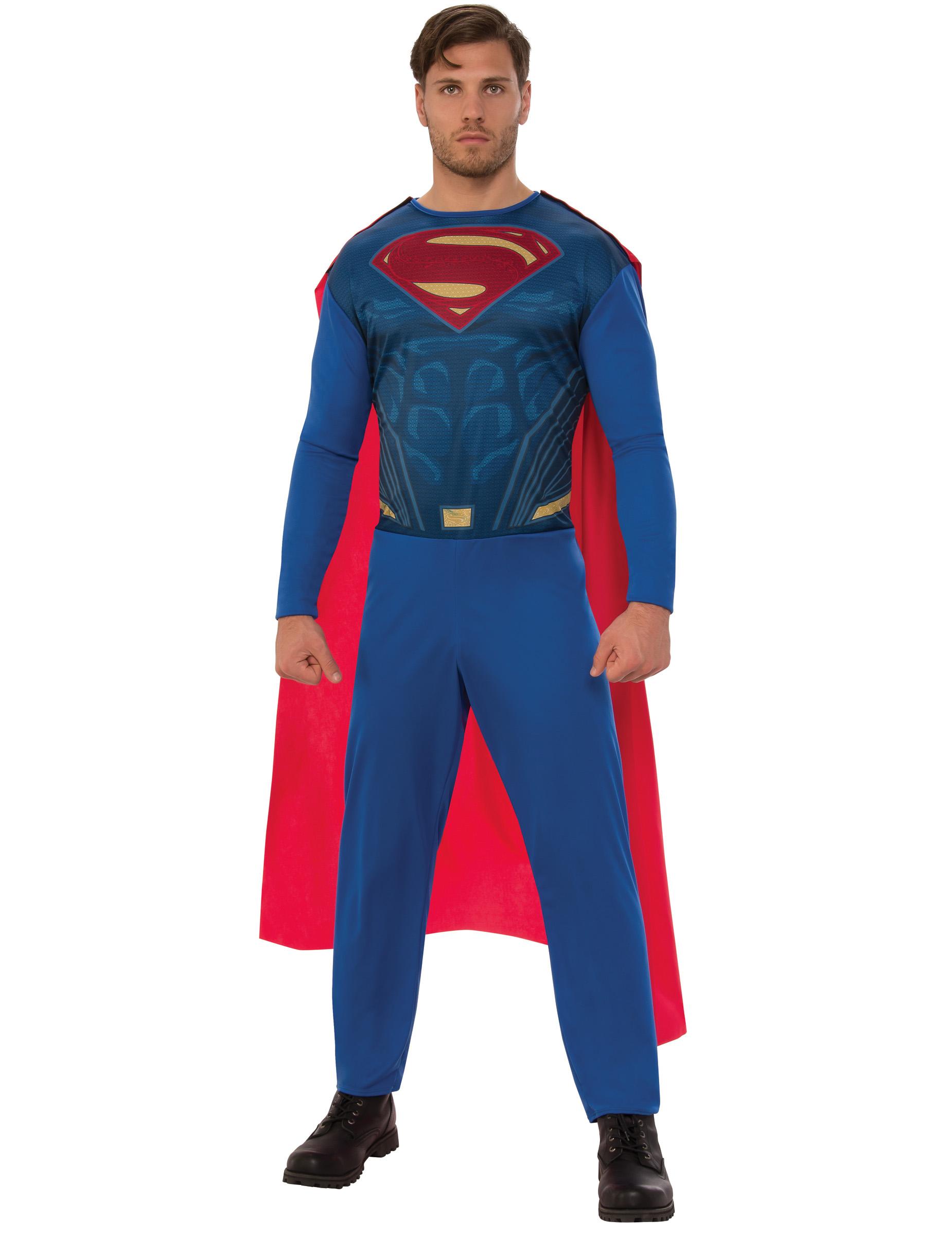 superman kost m f r erwachsene rot blau kost me f r. Black Bedroom Furniture Sets. Home Design Ideas