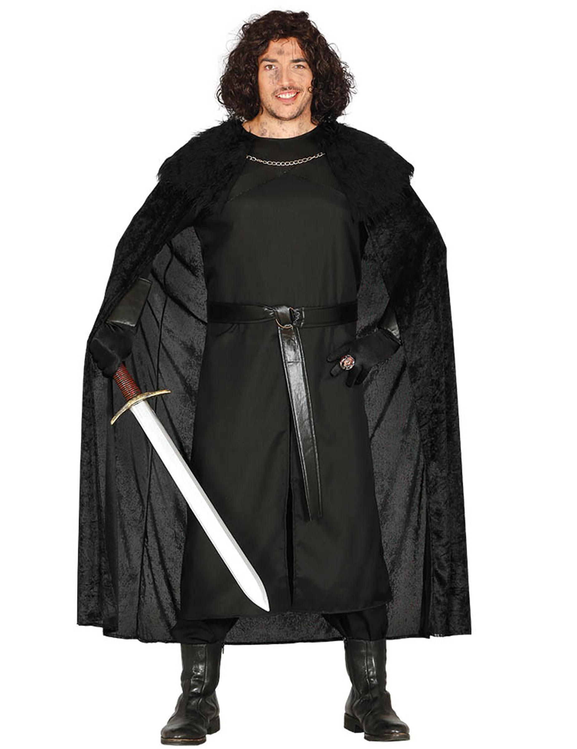 Dunkler Ritter Kostüm für Herren - XL (54-56) 275682