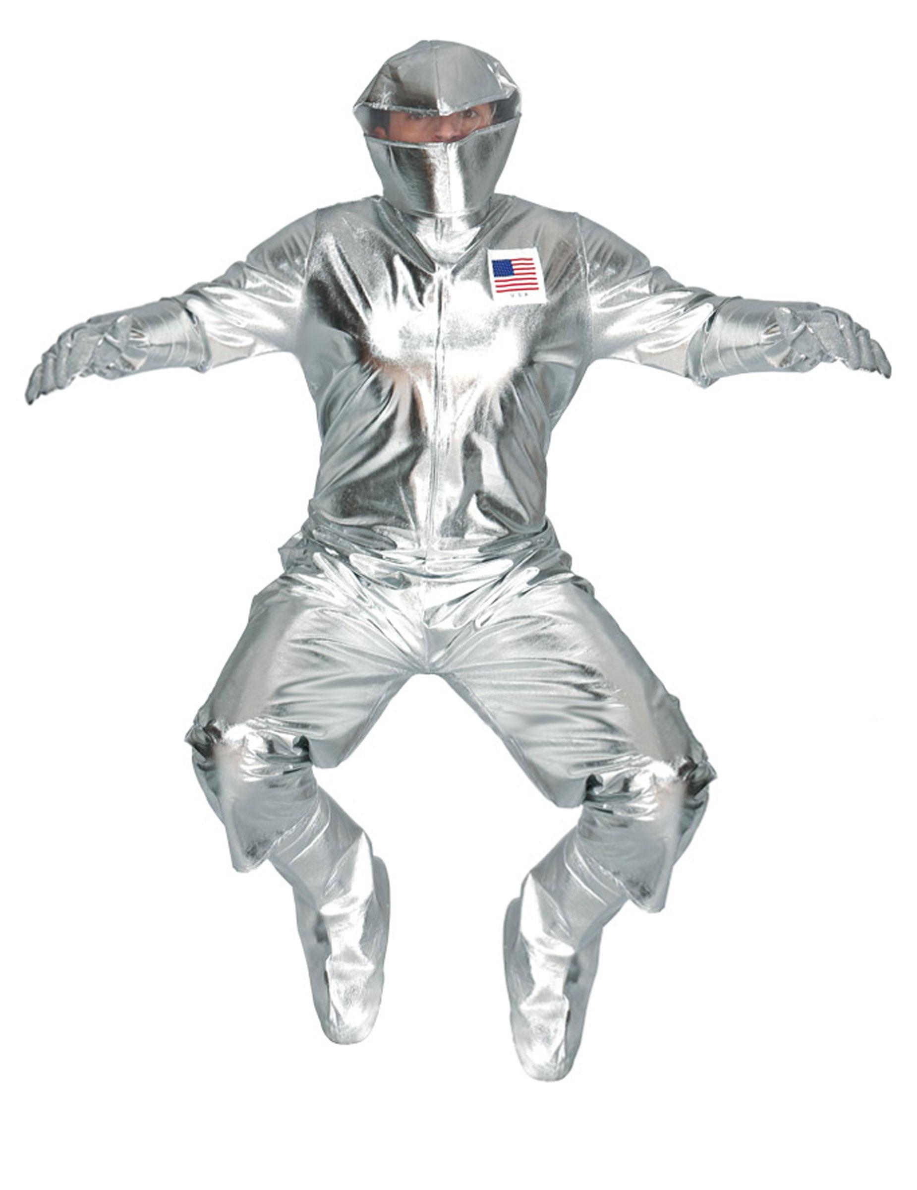 silbernes astronautenkost m f r erwachsene kost me f r. Black Bedroom Furniture Sets. Home Design Ideas