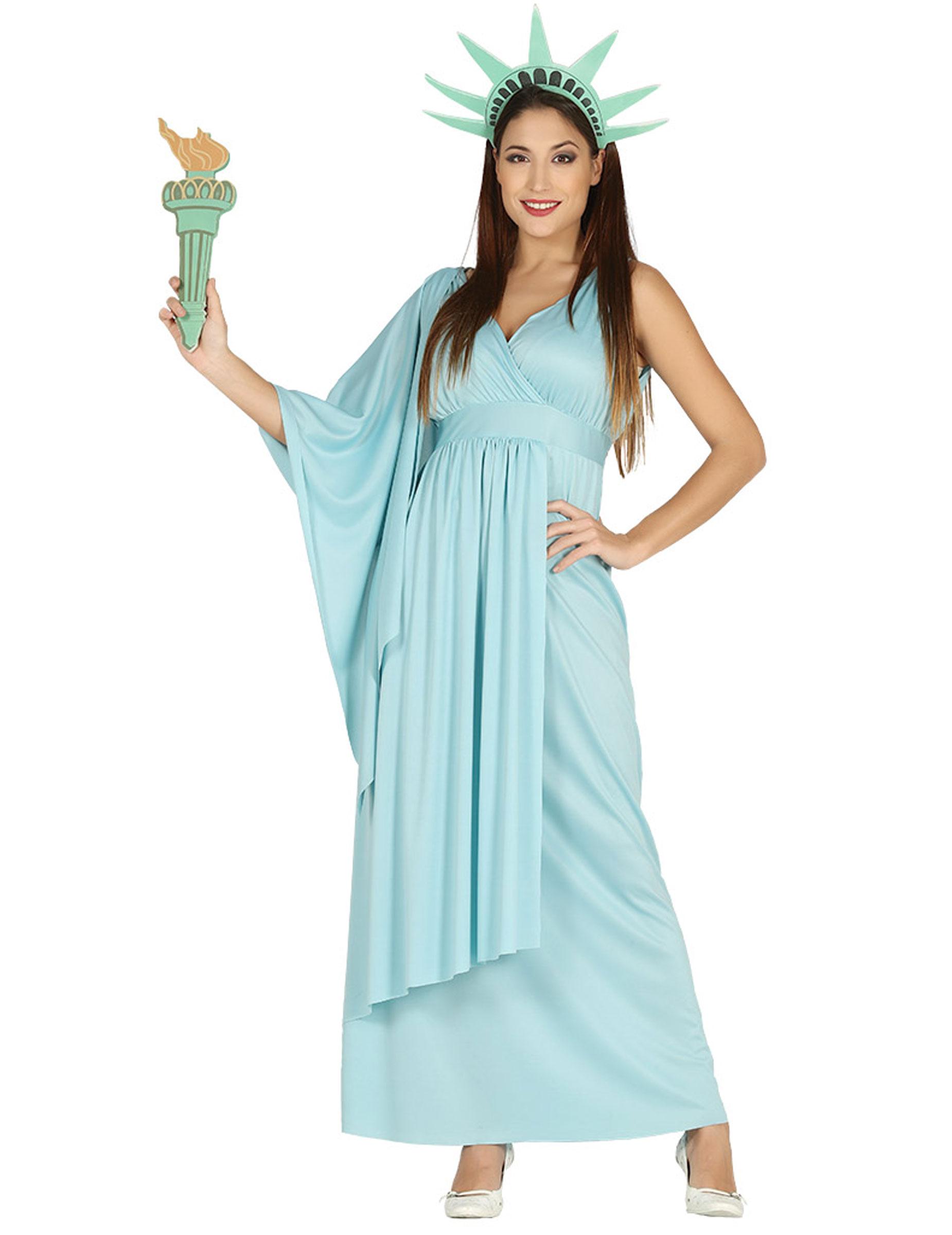 Freiheitsstatue Kostüm für Damen - M (38-40) 275852
