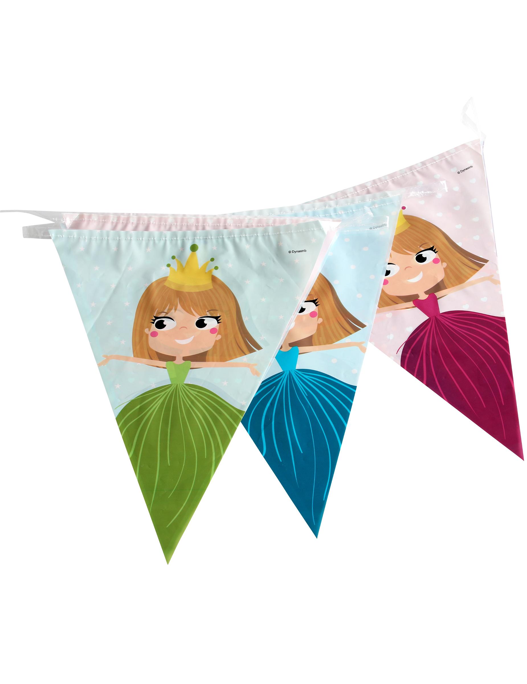 #Wimpel-Girlande Prinzessinnen 270 cm#