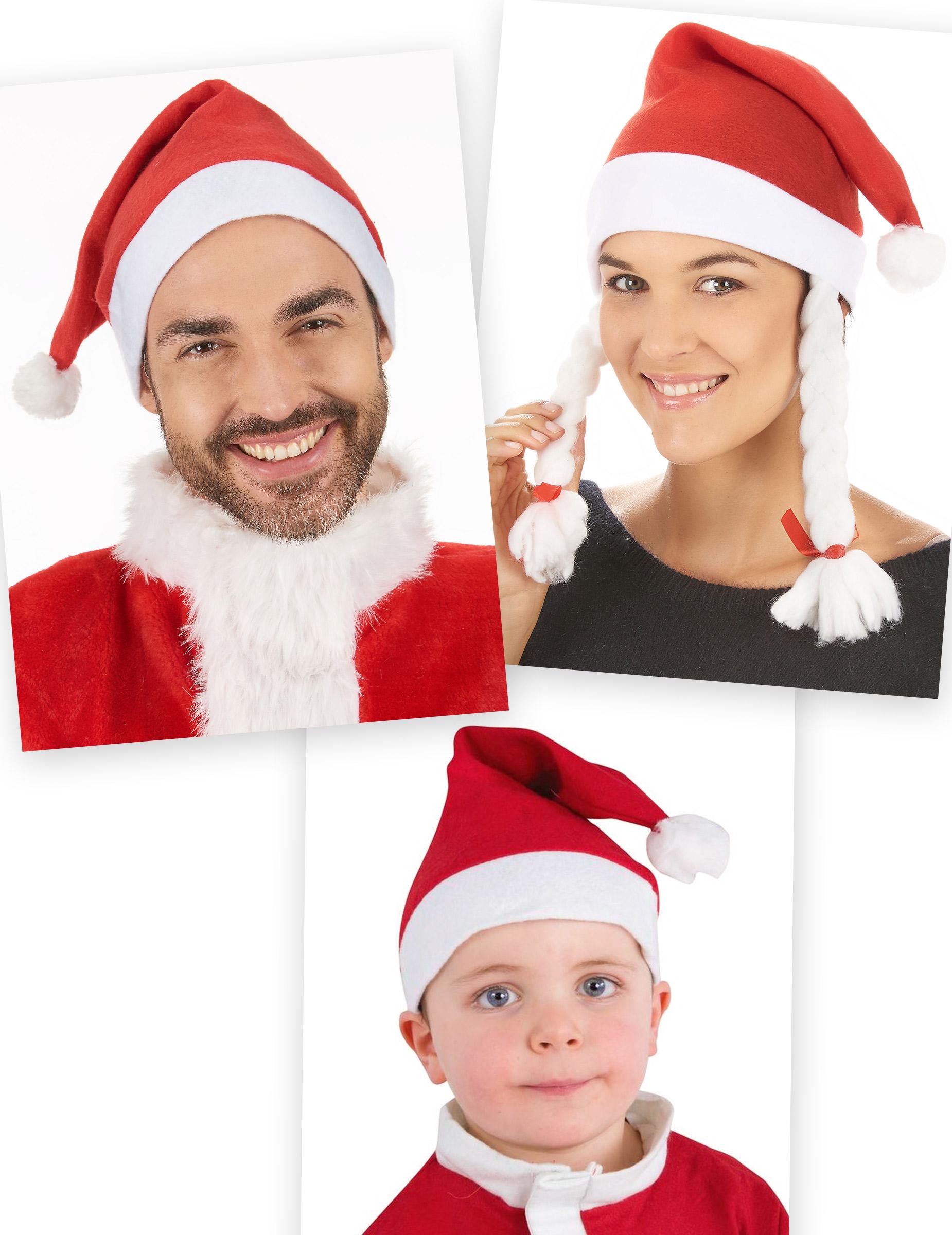 weihnachtsm tzen set f r die familie rot wei h te und. Black Bedroom Furniture Sets. Home Design Ideas