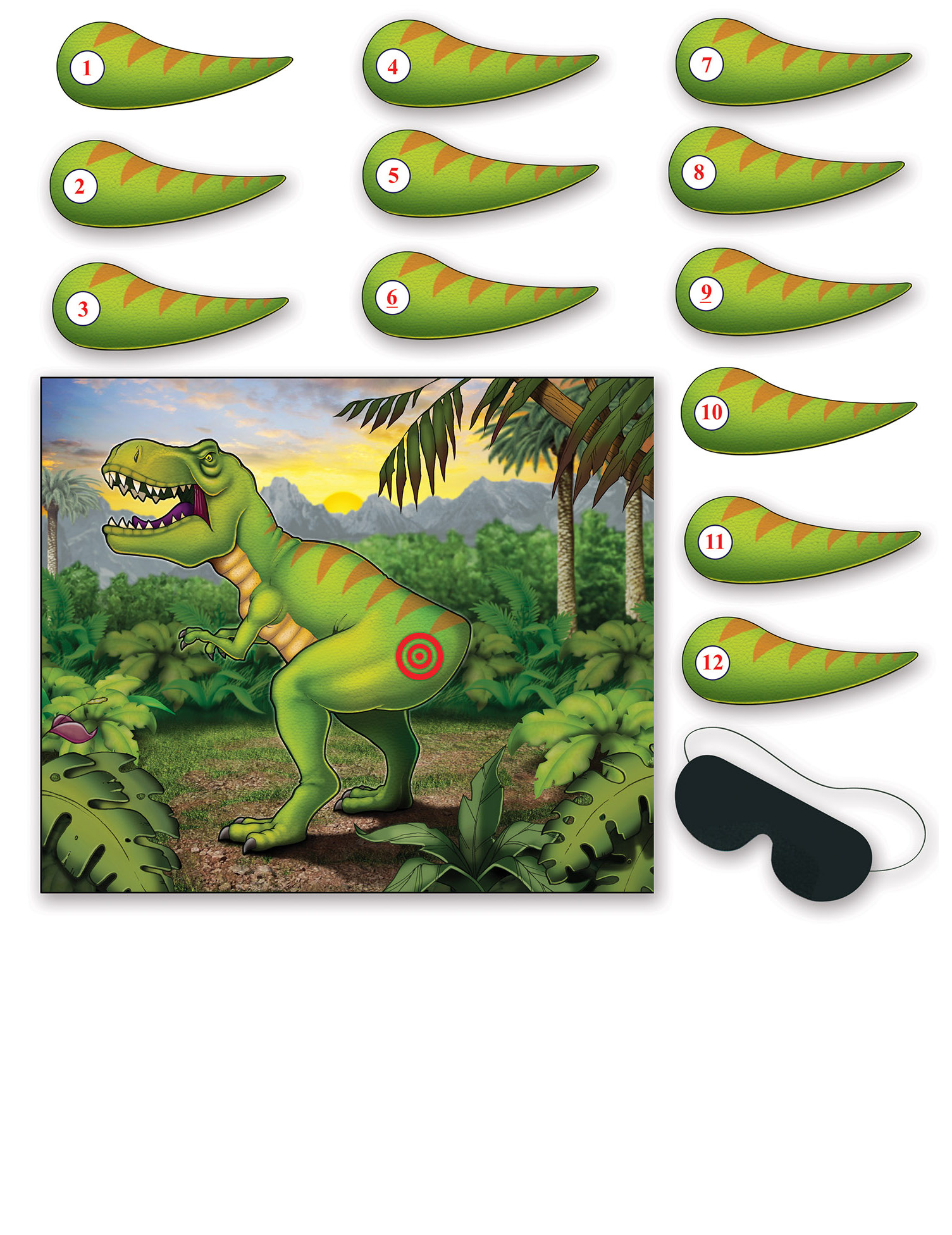 #Dinosaurier Poster-Spiel grün#
