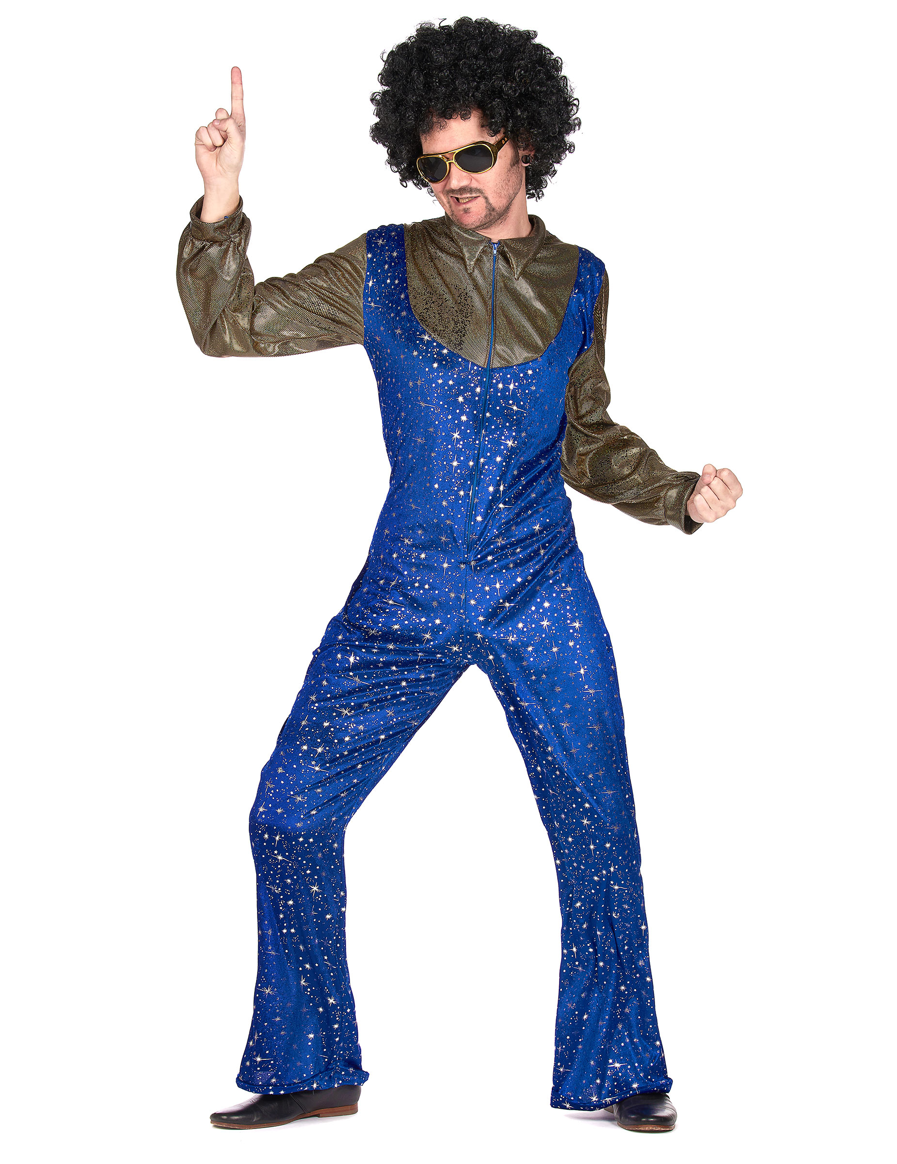 Disco-Verkleidung 70er-Jahre Herrenkostüm blau-gold: Kostüme für ...
