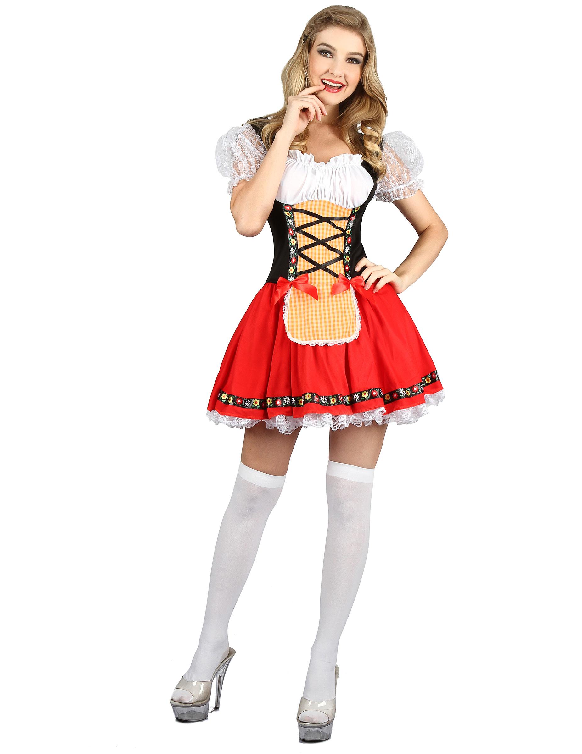 401158465873ad Bayrisches Dirndl Damenkostüm bunt: Kostüme für Erwachsene,und ...