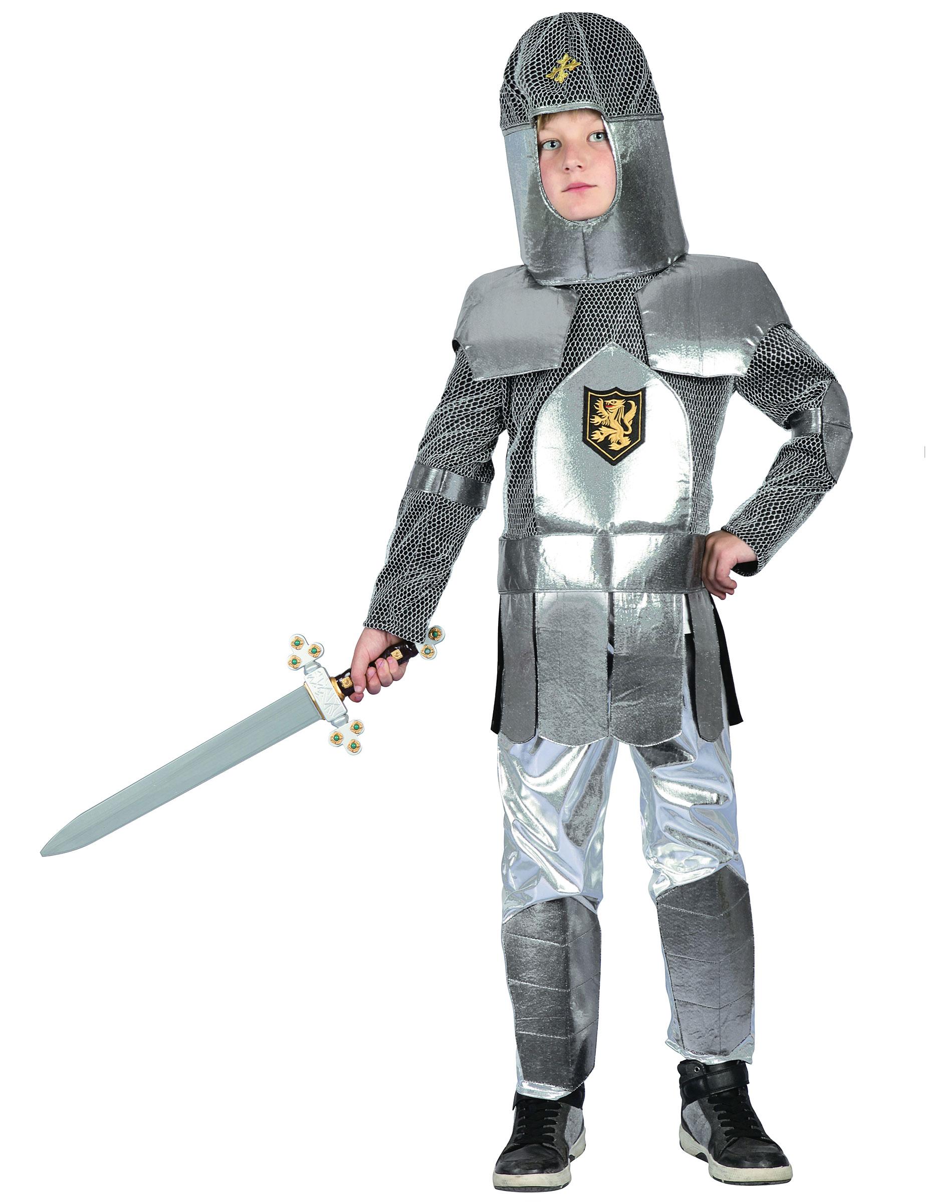 ritterkostüm für kinder mittelalter silbergrau kostüme