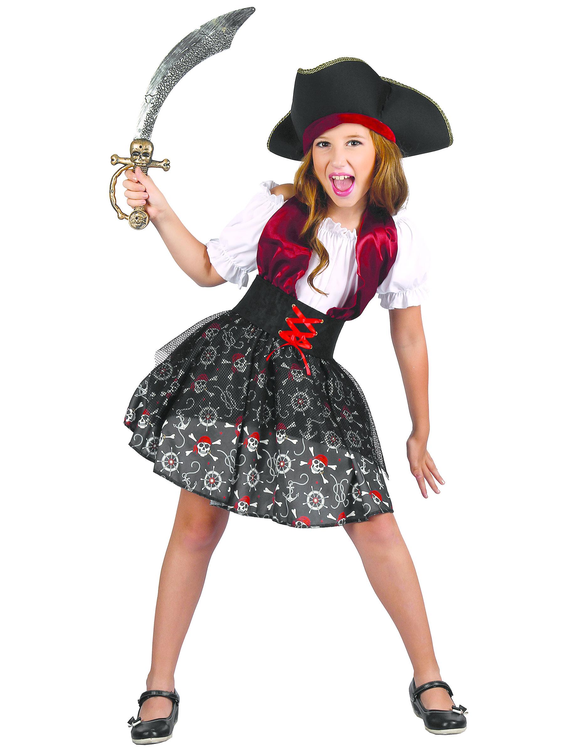 Bezaubernde Piratenbraut Kostum Fur Kinder Bunt