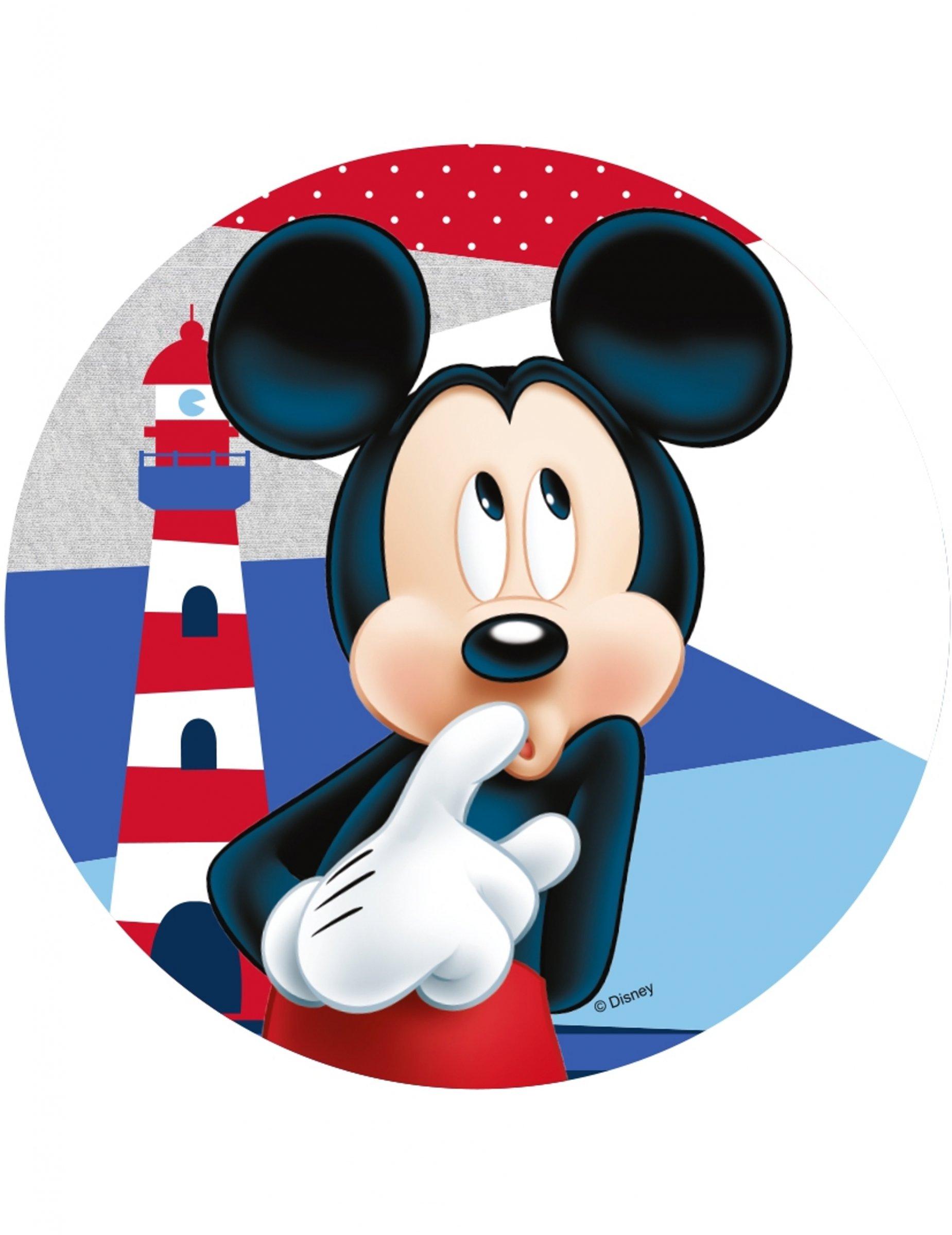 #Mickey Maus™-Kuchendeko rund 21 cm#