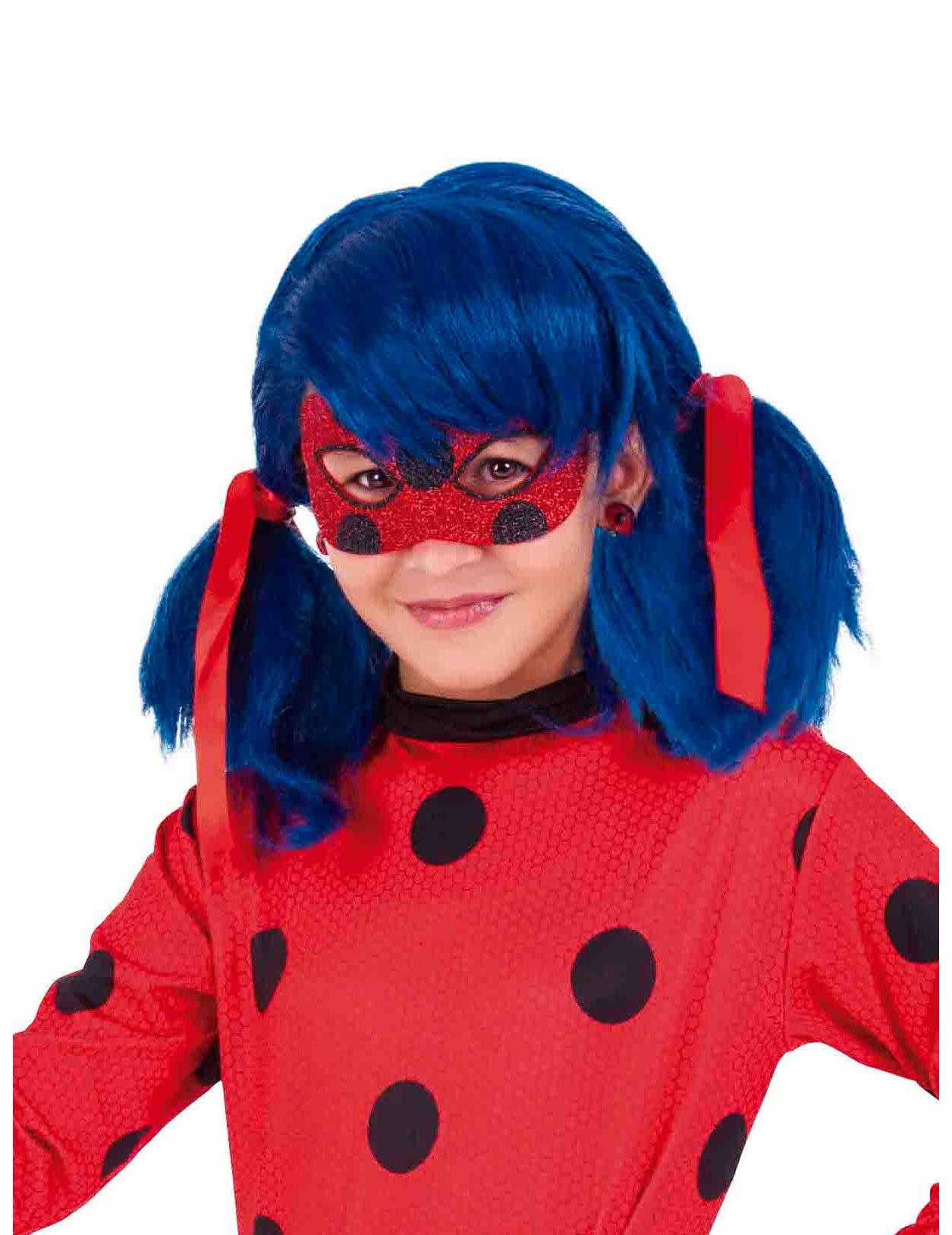 #Glänzende Ladybug™ Maske für Kinder#