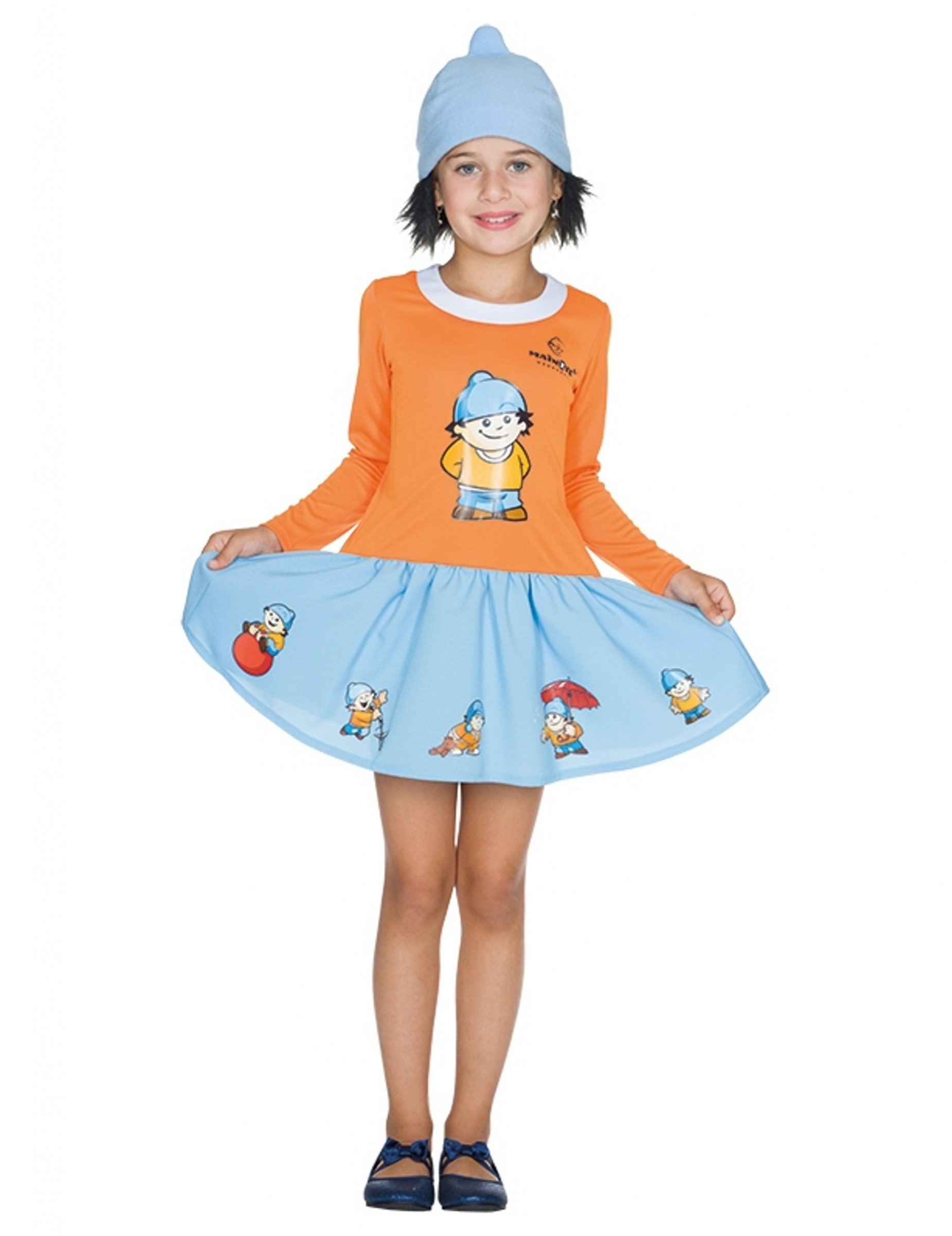 #Conni Mainzelmännchen™ Kostüm für Kinder orange-blau#