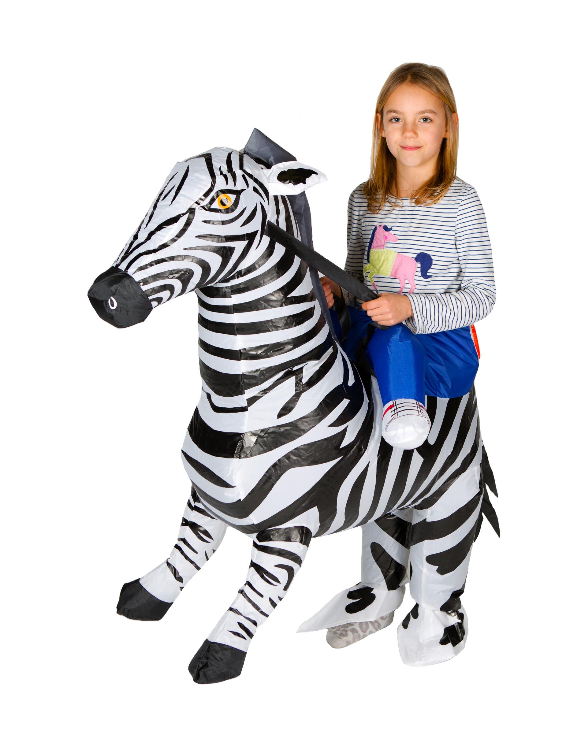 aufblasbares zebra kost m f r kinder kost me f r kinder. Black Bedroom Furniture Sets. Home Design Ideas