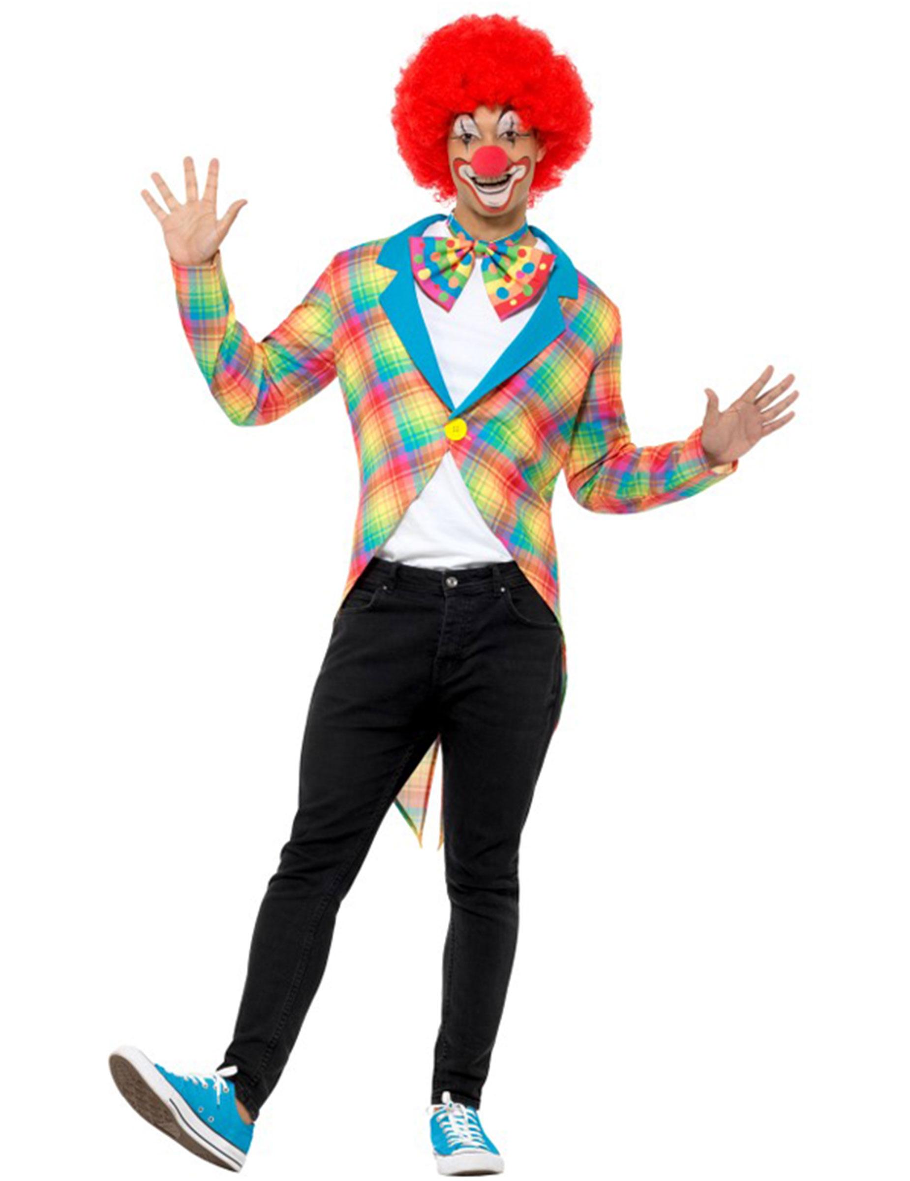 Clown Frack In Regenbogenfarben Fur Erwachsene Kostume Fur
