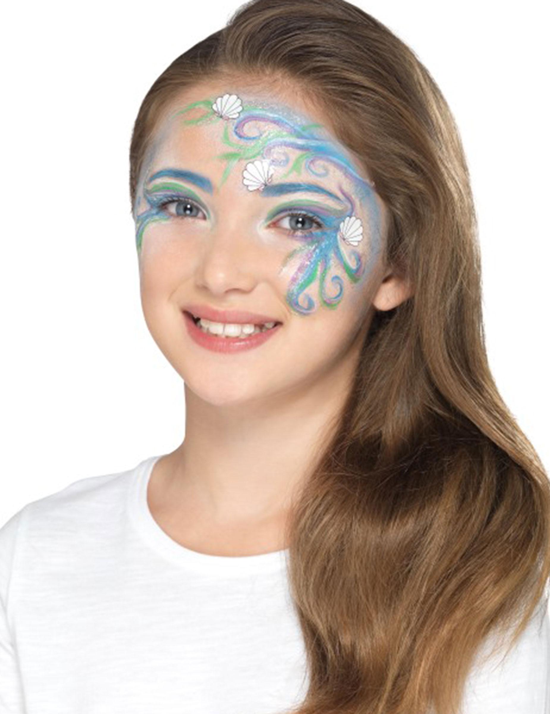 #Meerjungfrau Schminkset für Mädchen blau#
