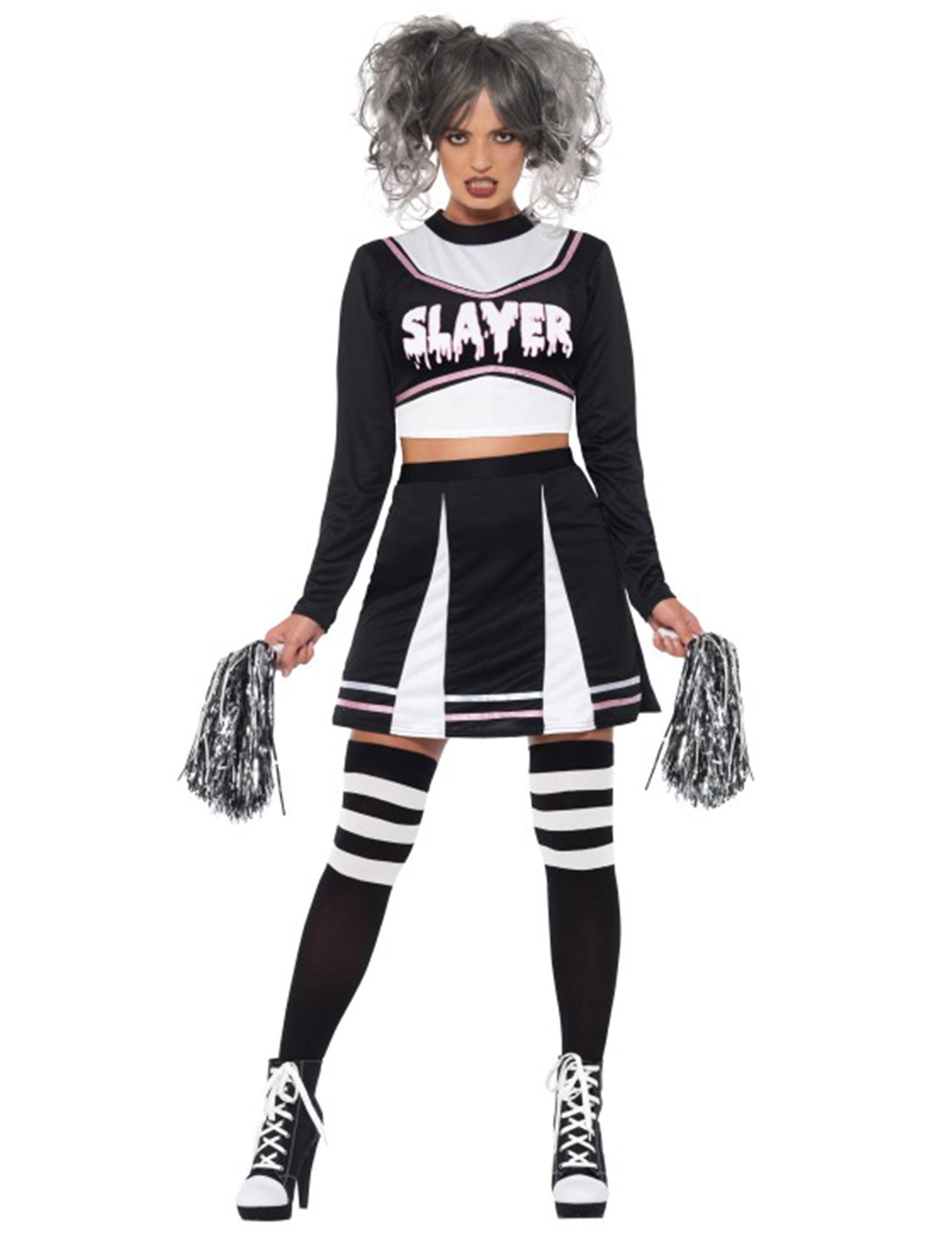 Gothic Cheerleader Kostum Fur Damen Halloween Kostume Fur