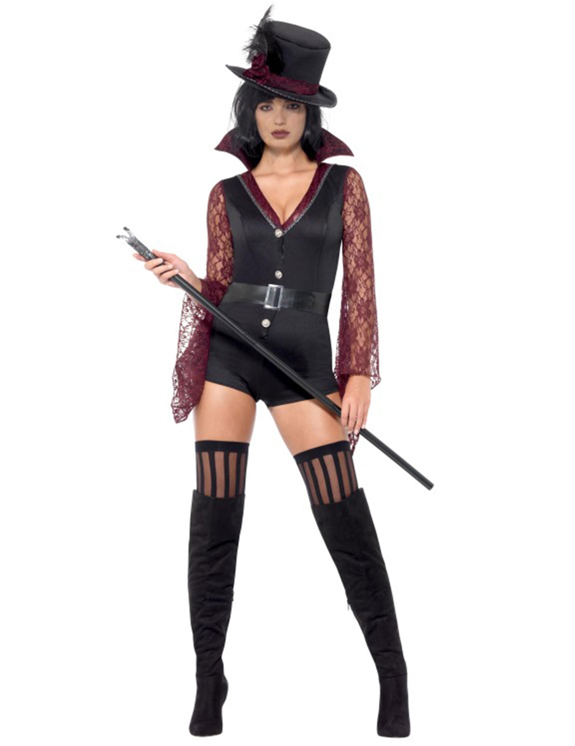 sexy vampirlady damenkost m halloween schwarz rot kost me. Black Bedroom Furniture Sets. Home Design Ideas