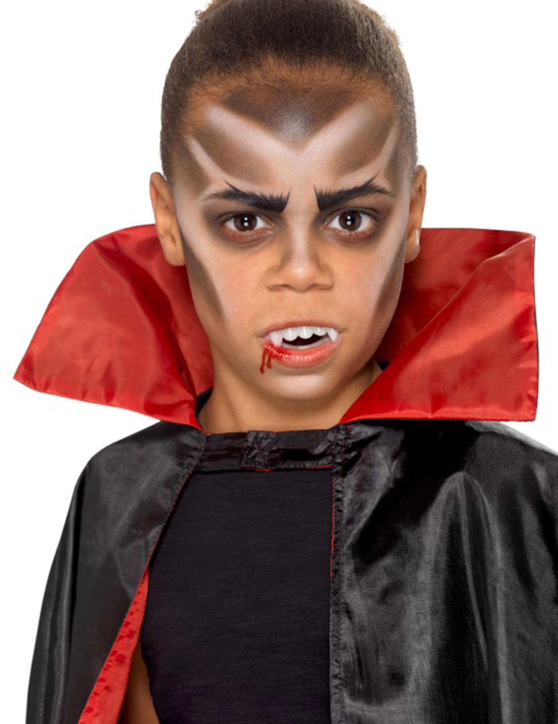 vampir schmink set f r kinder halloween 6 teilig schwarz weiss schminke und g nstige. Black Bedroom Furniture Sets. Home Design Ideas