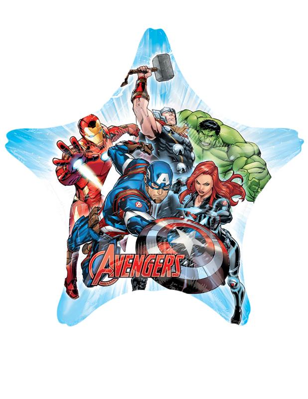 #Avengers™-Aluminiumballon Lizenzartikel bunt 81 x 81cm#