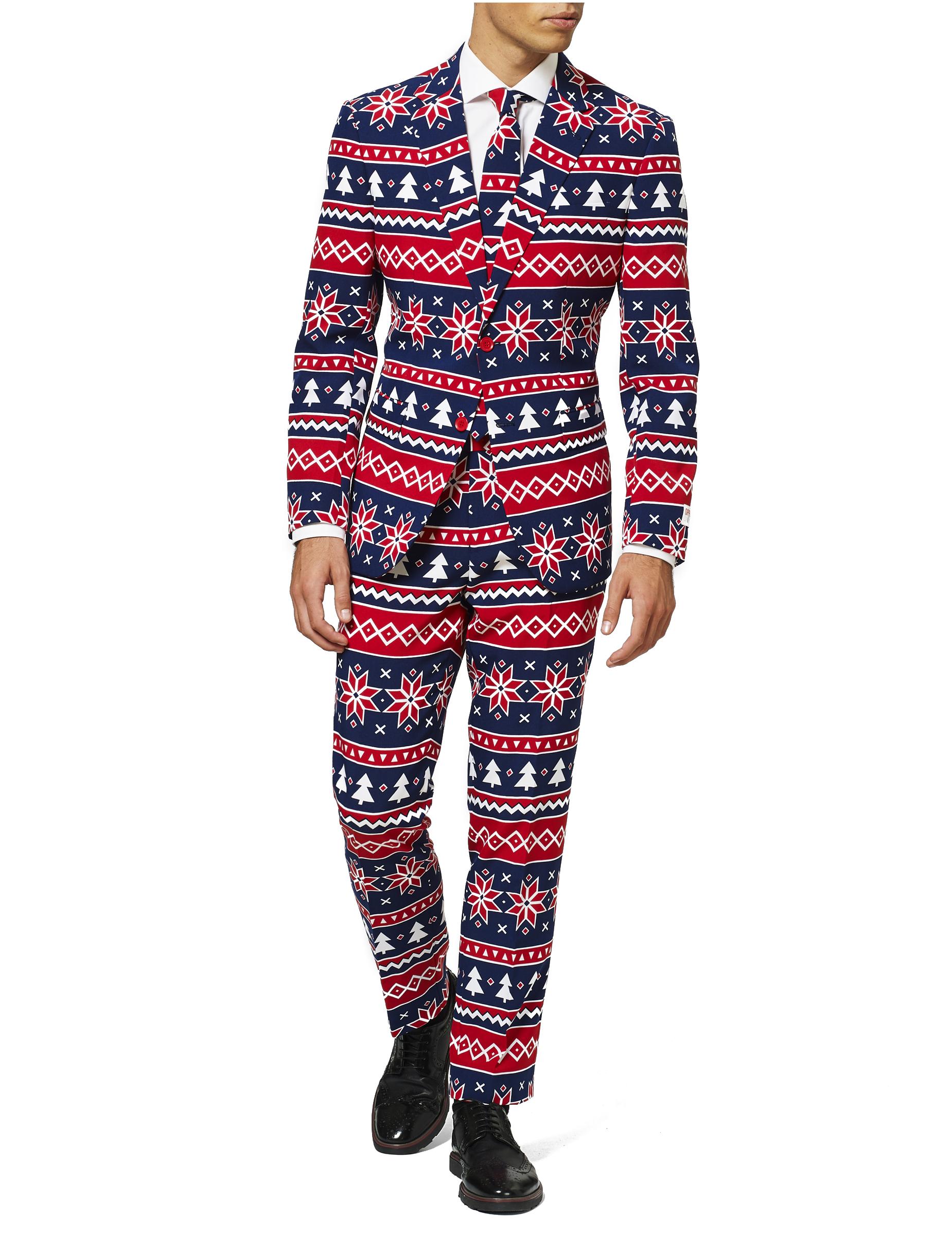 Mr. Nordic-Opposuits festlicher Weihnachtsanzug blau-rot - XL (58) 280793
