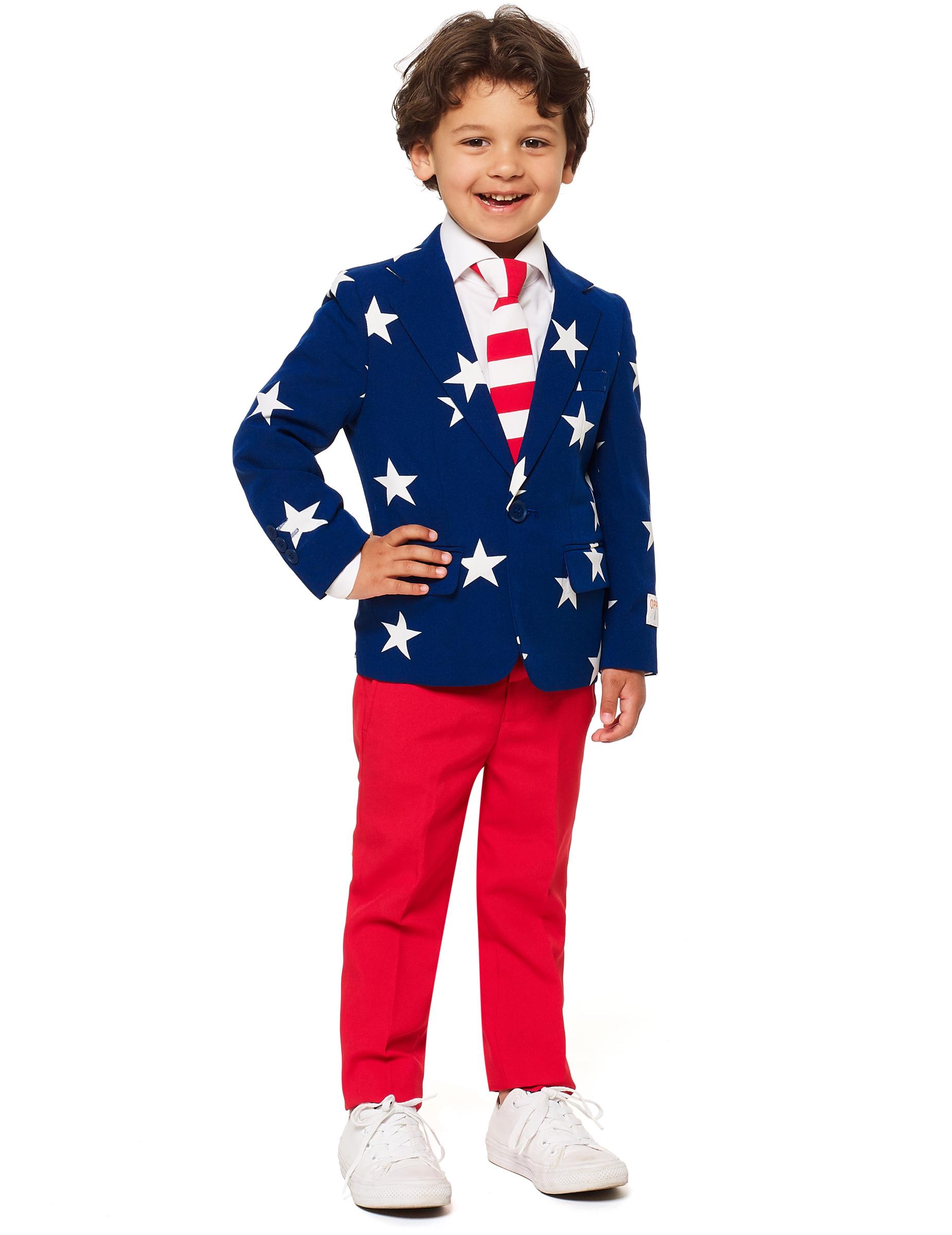 #Mr. USA-Opposuits™ für Kinder blau-rot-weiss#