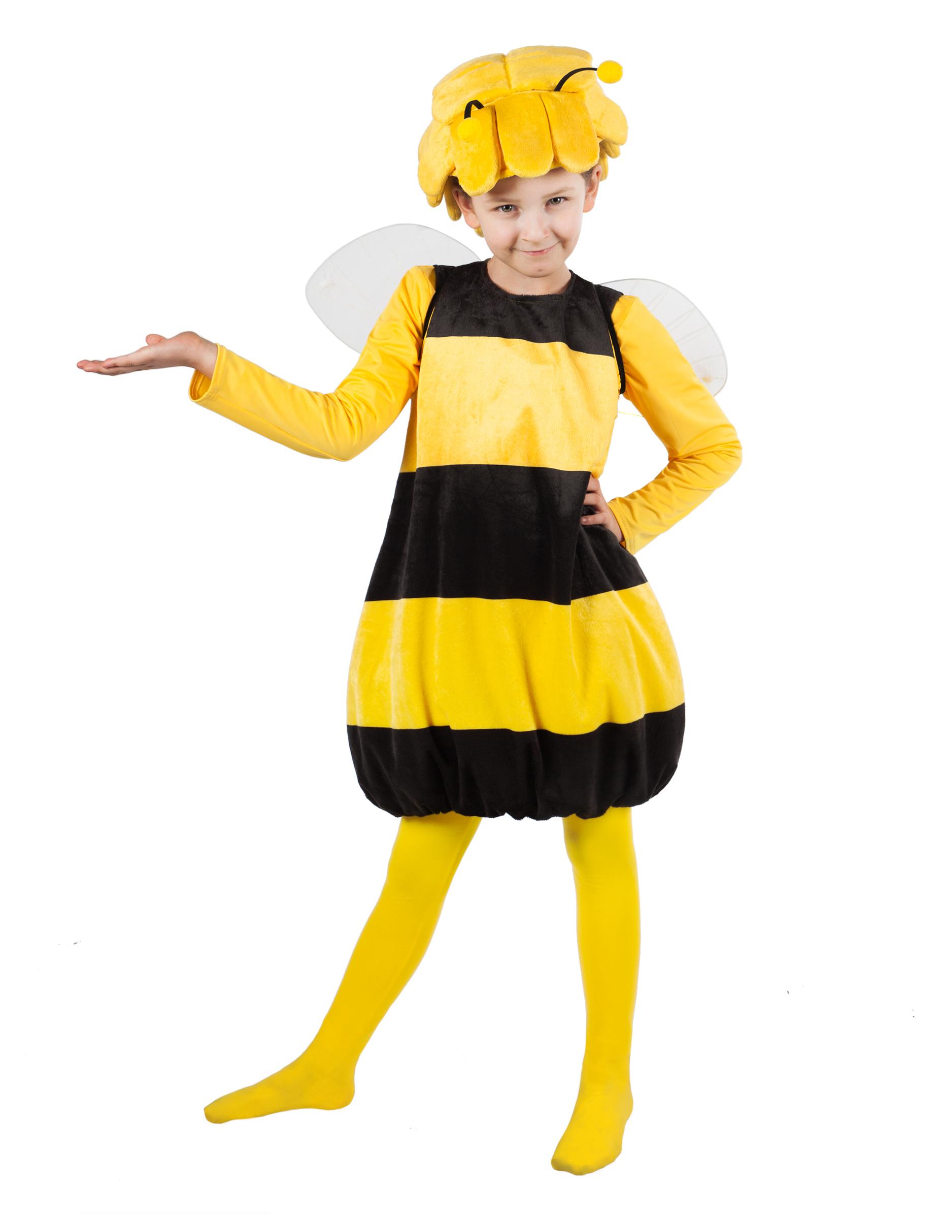 Biene Maja Kinderkostum Lizenz Verkleidung Gelb Schwarz Kostume