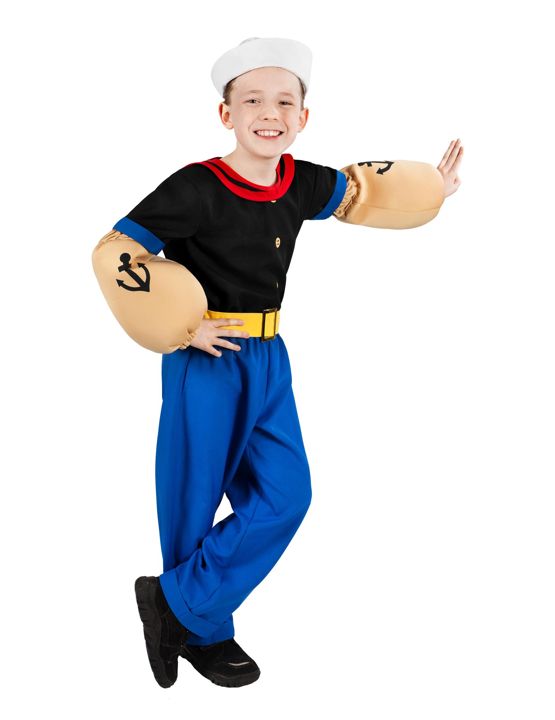#Popeye™-Kinderkostüm Seemann-Comicfigur bunt#