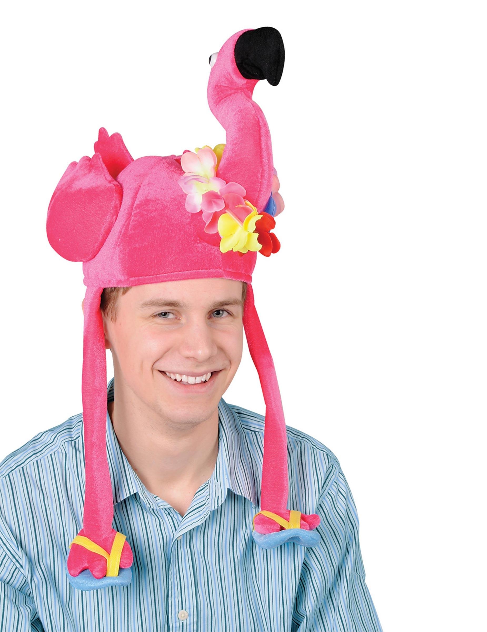 Witziger Flamingo-Hut für Erwachsene pink 280898