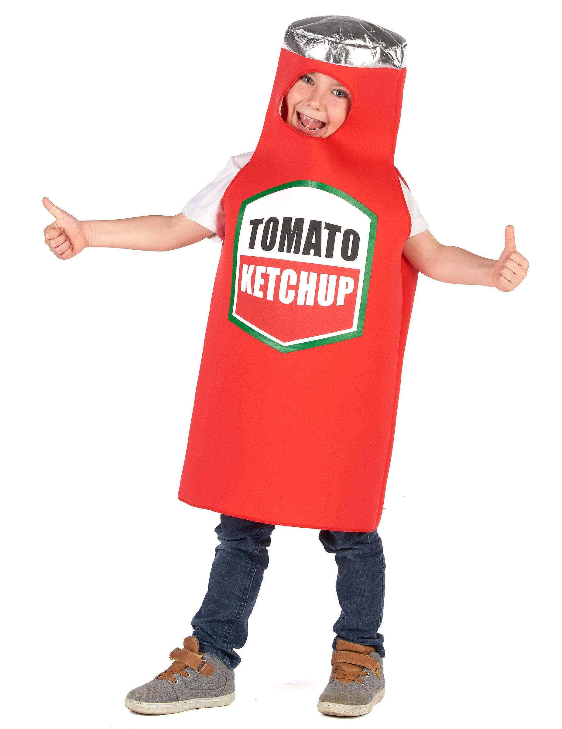 Witziges Ketchup-Kinderkostüm Karneval rot - 122/134 (7-9 Jahre) 281288