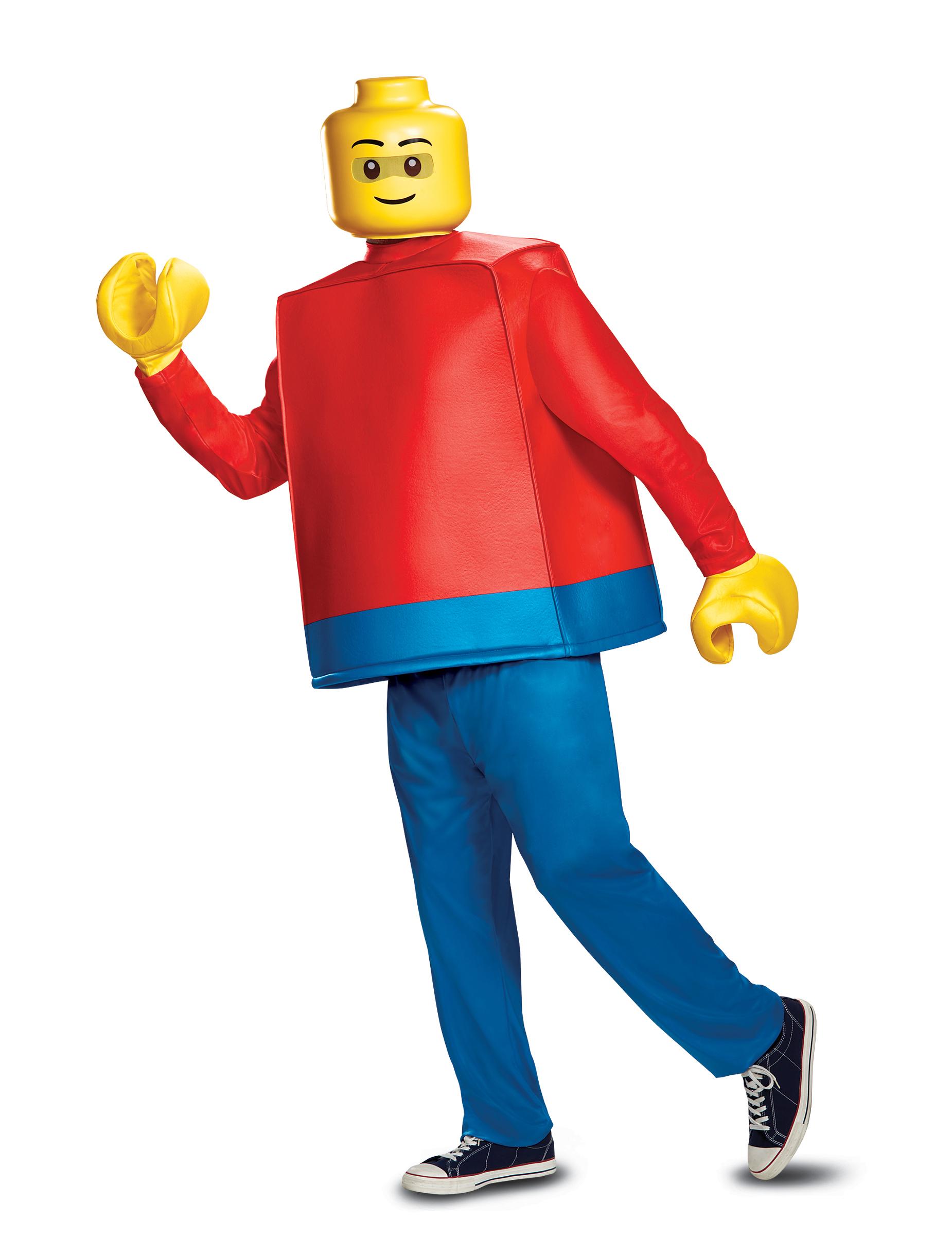 lego figur lizenzkost m f r erwachsene blau gelb rot. Black Bedroom Furniture Sets. Home Design Ideas