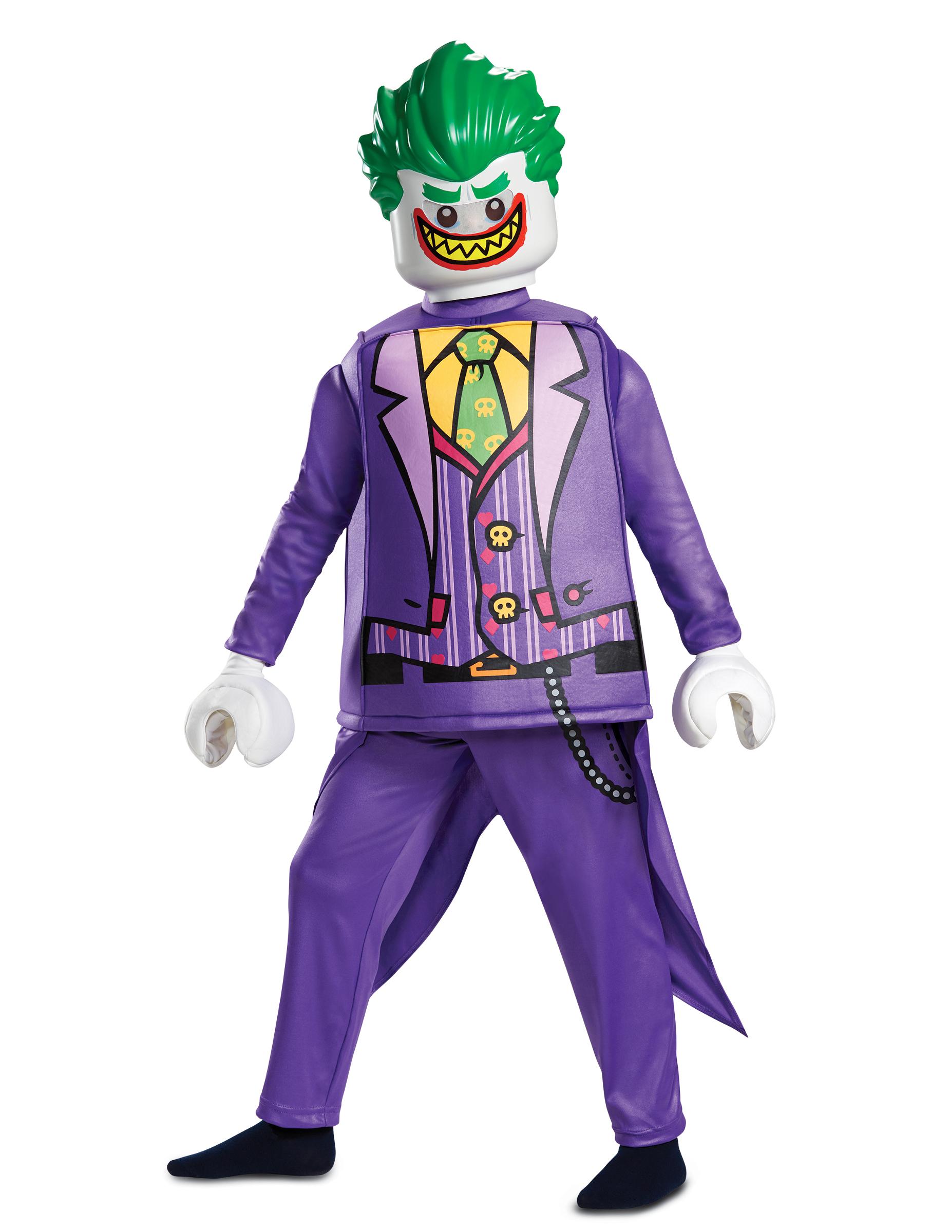 Lego joker kost m f r kinder lizenz verkleidung halloween for Lila und grun kombinieren