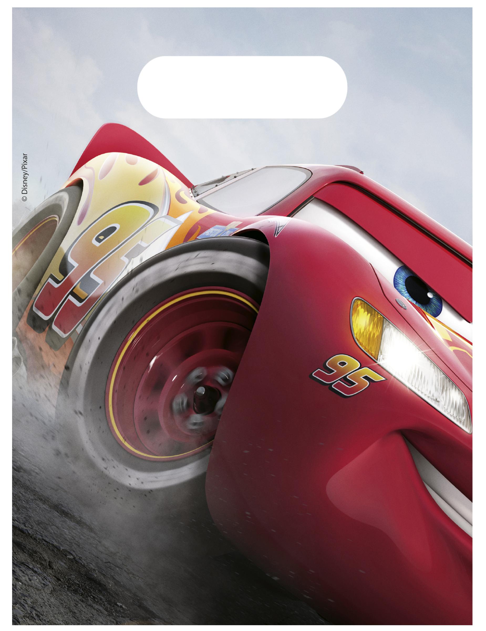 #Cars3™-Geschenktüten für Kindergeburtstage 6 Stück bunt 23×16,5cm#