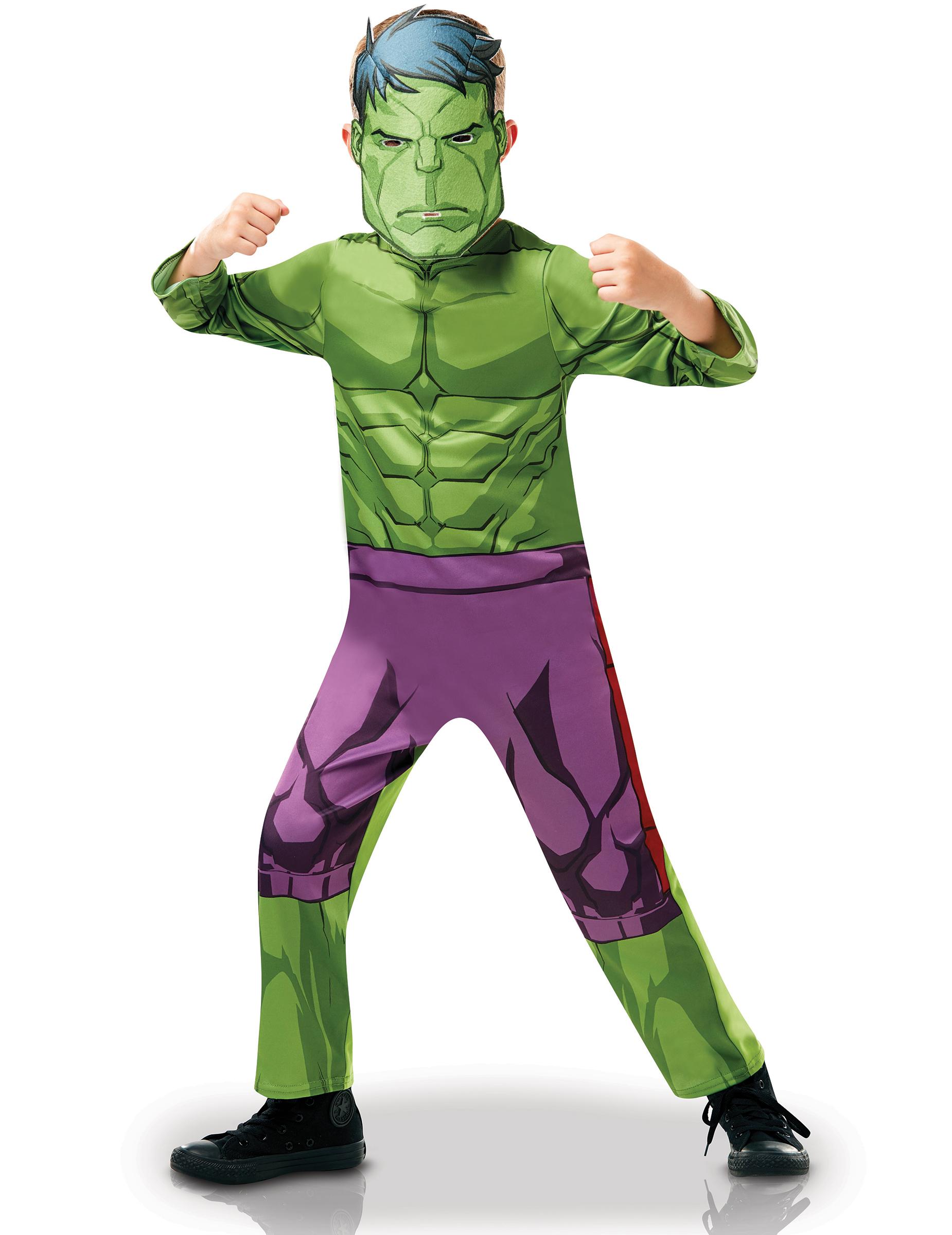 Hulk lizenzkost m f r kinder einteiler und maske gr n for Lila und grun kombinieren