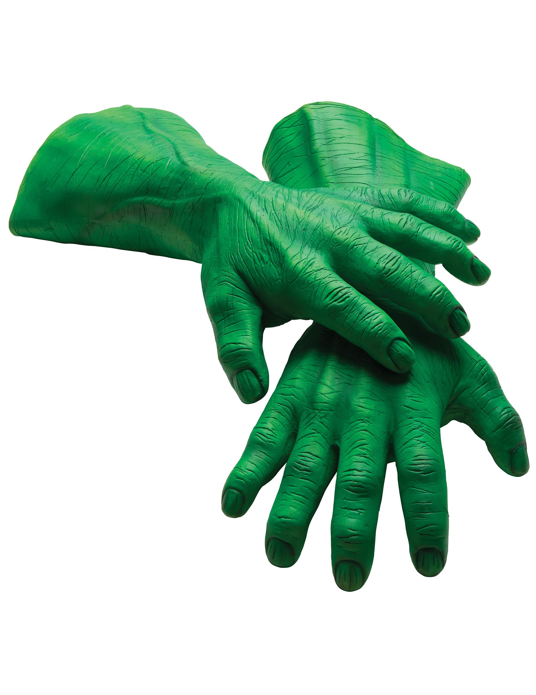#Hulk™-Latex-Handschuhe für Erwachsene Kostümzubehör grün#