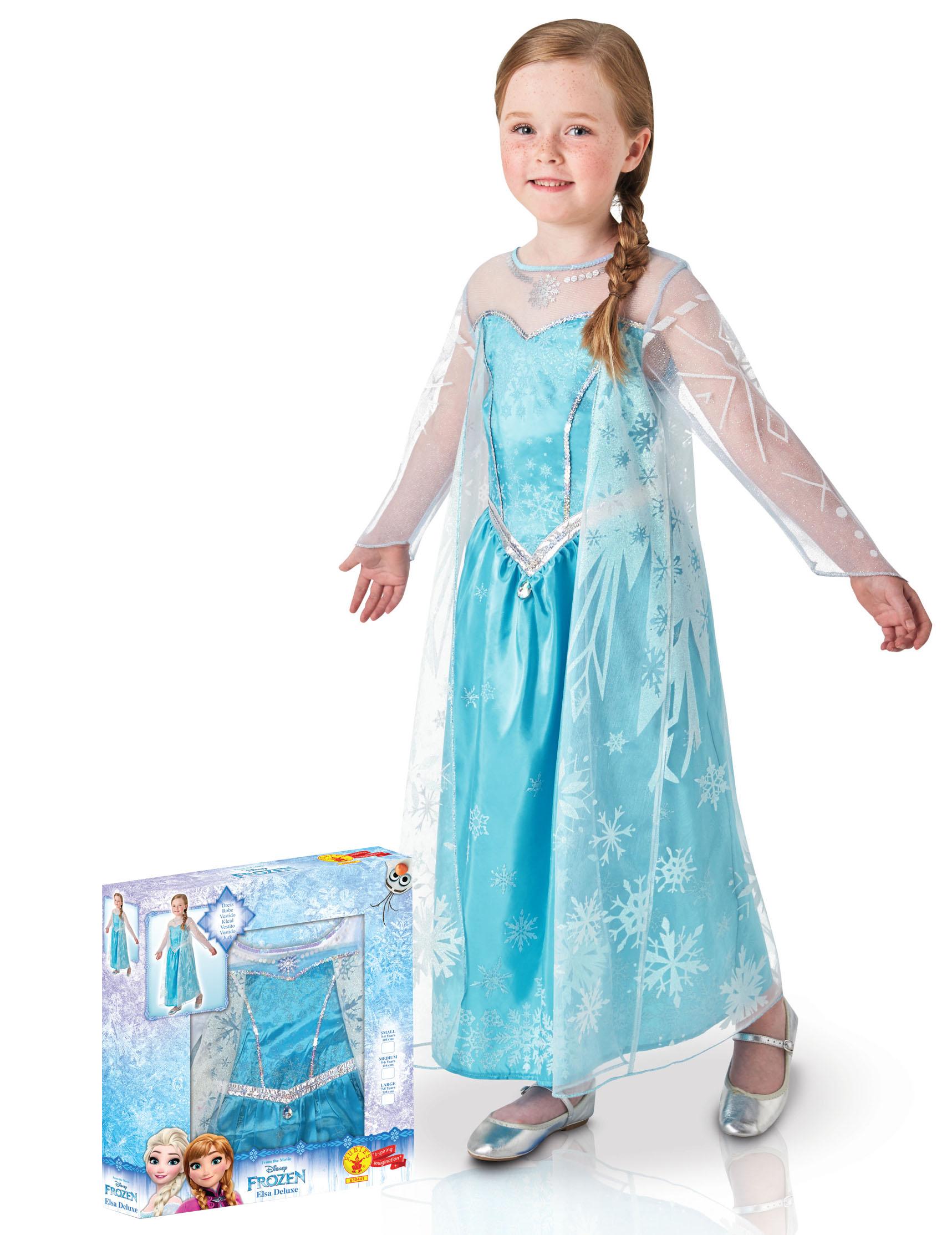Die Eiskonigin Kinderkostum Prinzessin Elsa Blau Weiss Kostume Fur