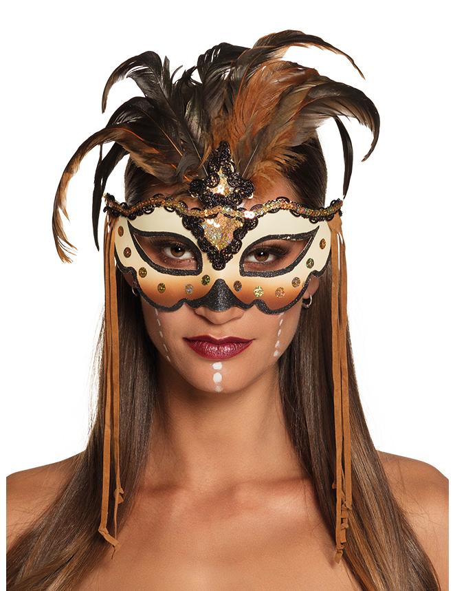 voodoo maske venezianisch kost m accessoire braun schwarz masken und g nstige faschingskost me. Black Bedroom Furniture Sets. Home Design Ideas