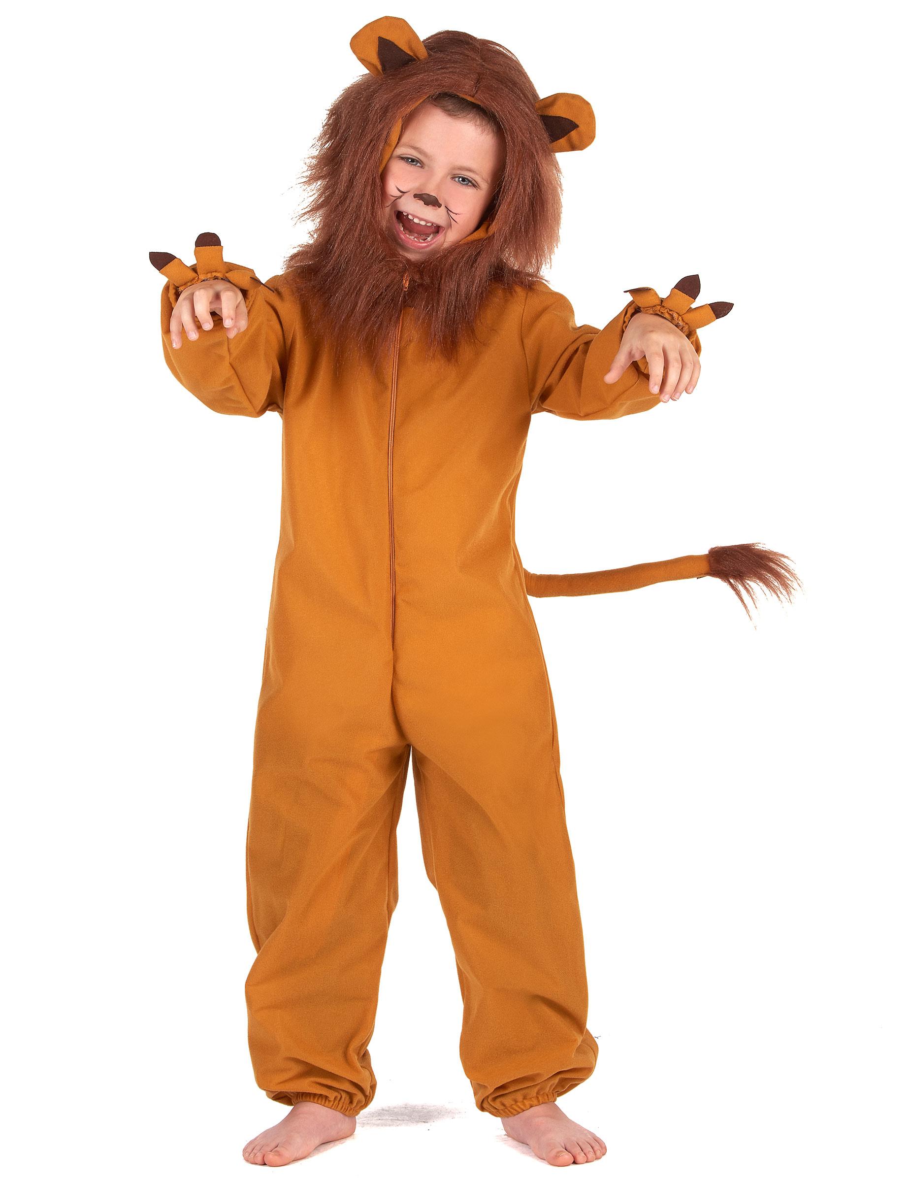Lowen Kinderkostum Karneval Tier Verkleidung Braun Kostume Fur