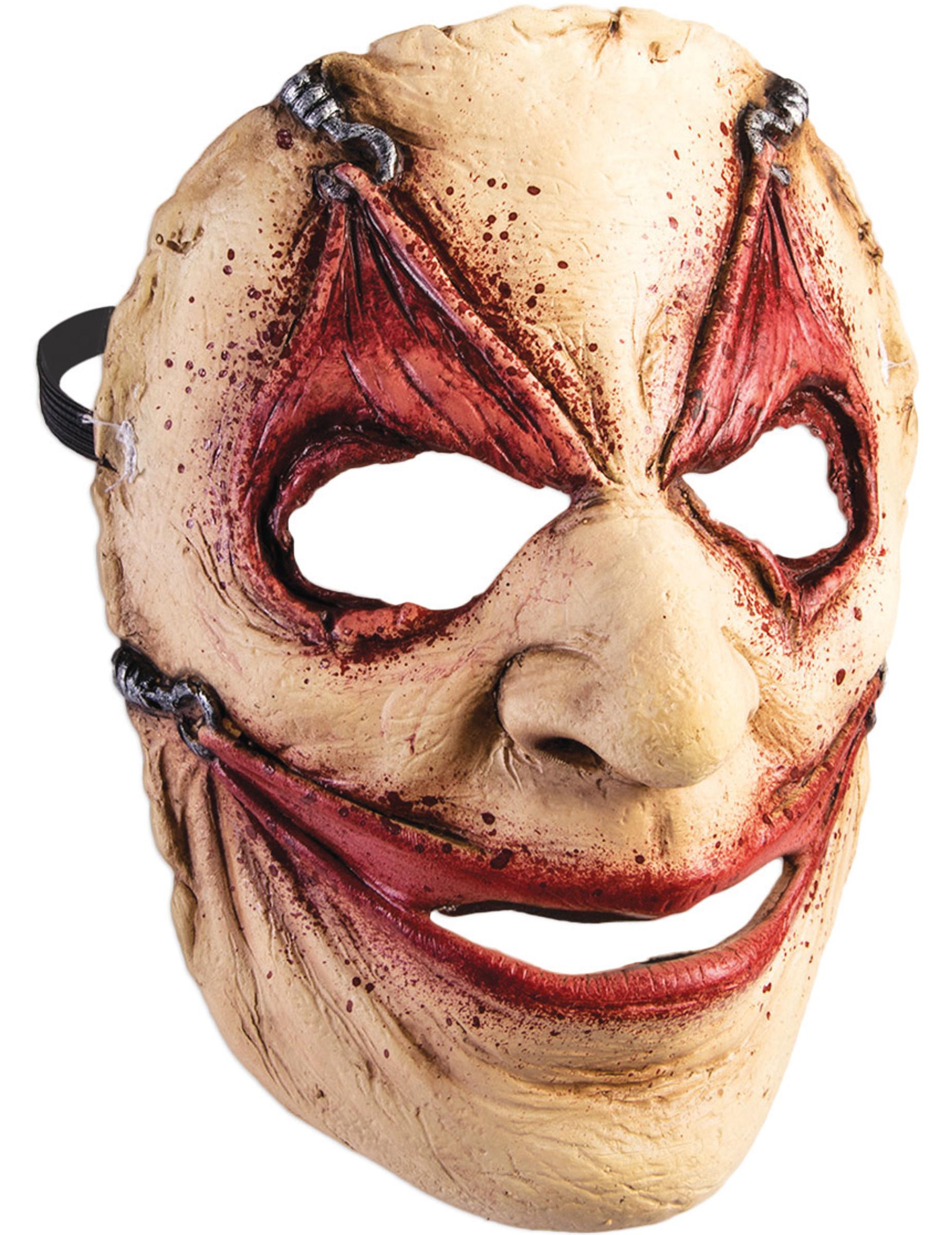 horror maske mit hautlappen f r erwachsene halloween. Black Bedroom Furniture Sets. Home Design Ideas