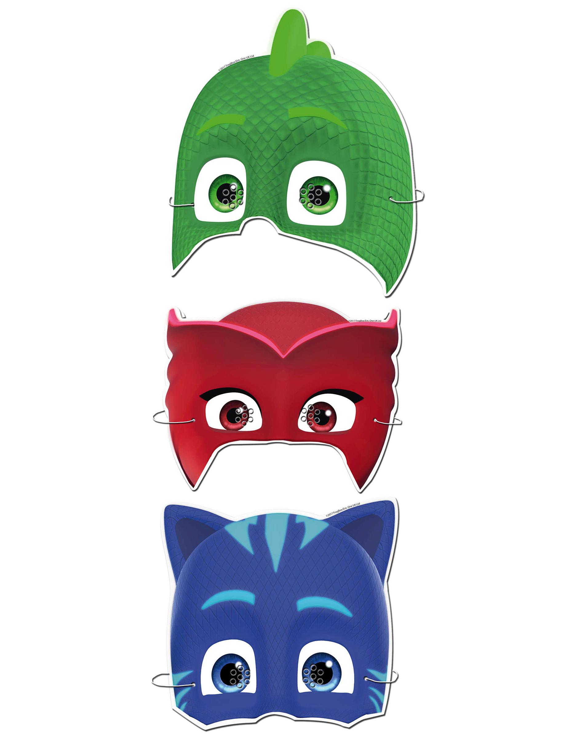 Catboy von Pj Masken Offiziell Lizenziert Einzel 2D Karten Party Gesichtsmaske