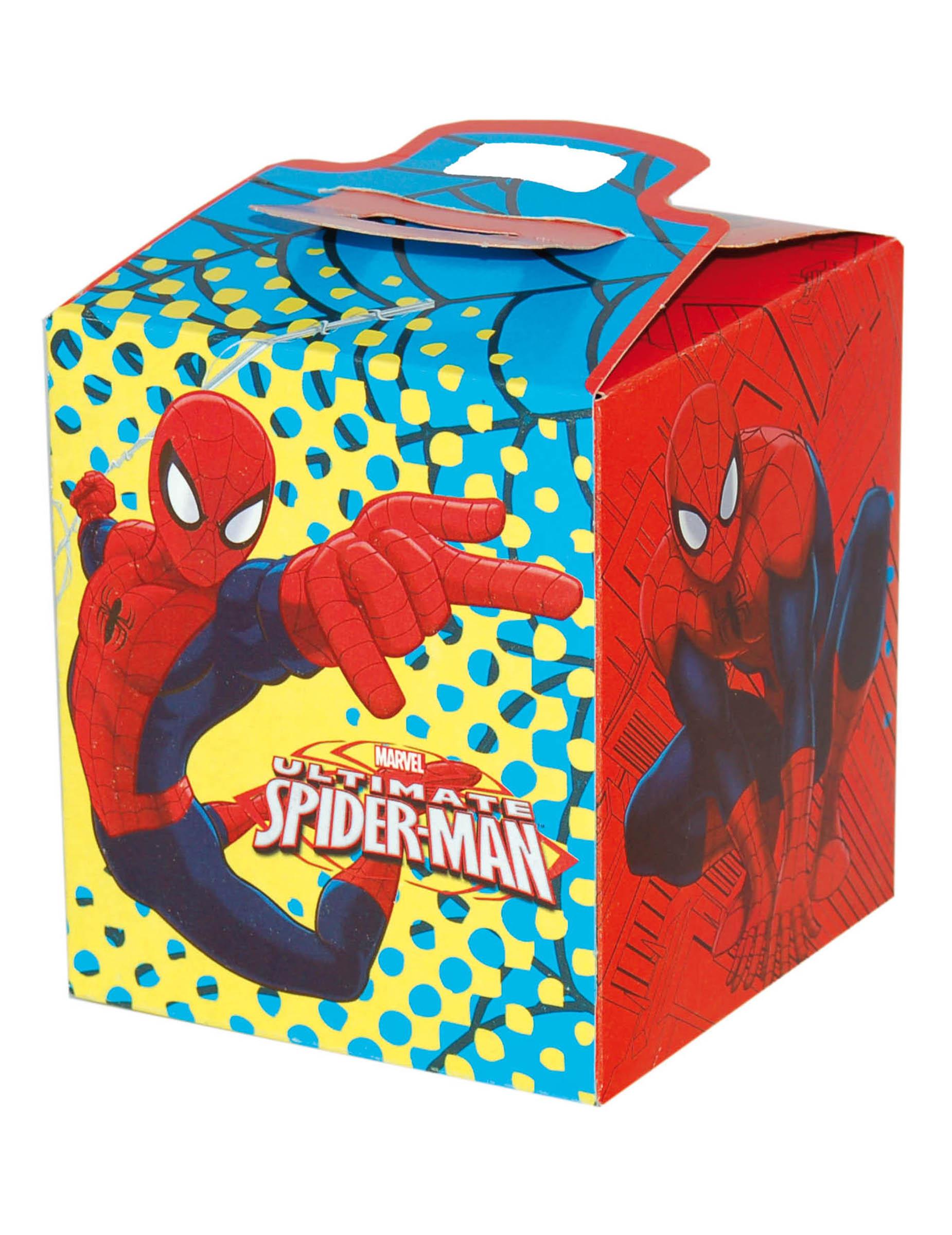 spiderman geschenkbox rot blau gelb partydeko und g nstige faschingskost me vegaoo. Black Bedroom Furniture Sets. Home Design Ideas