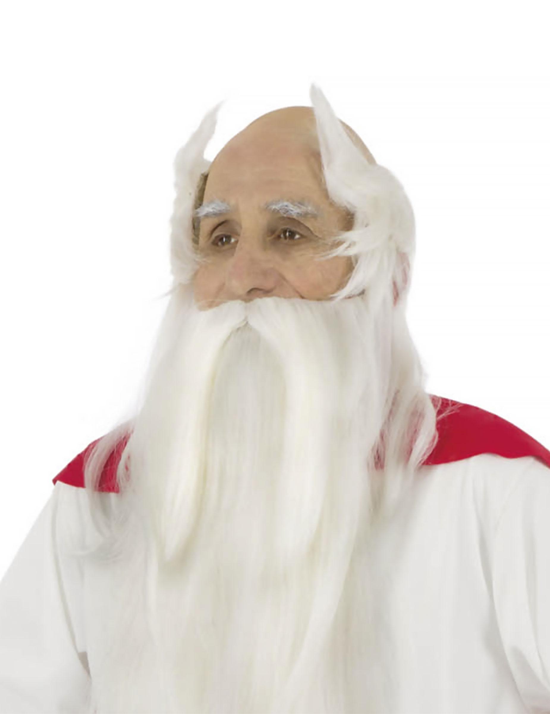 Miraculix- Lizenzartikel Kostümset Perücke und Bart weiss 283004