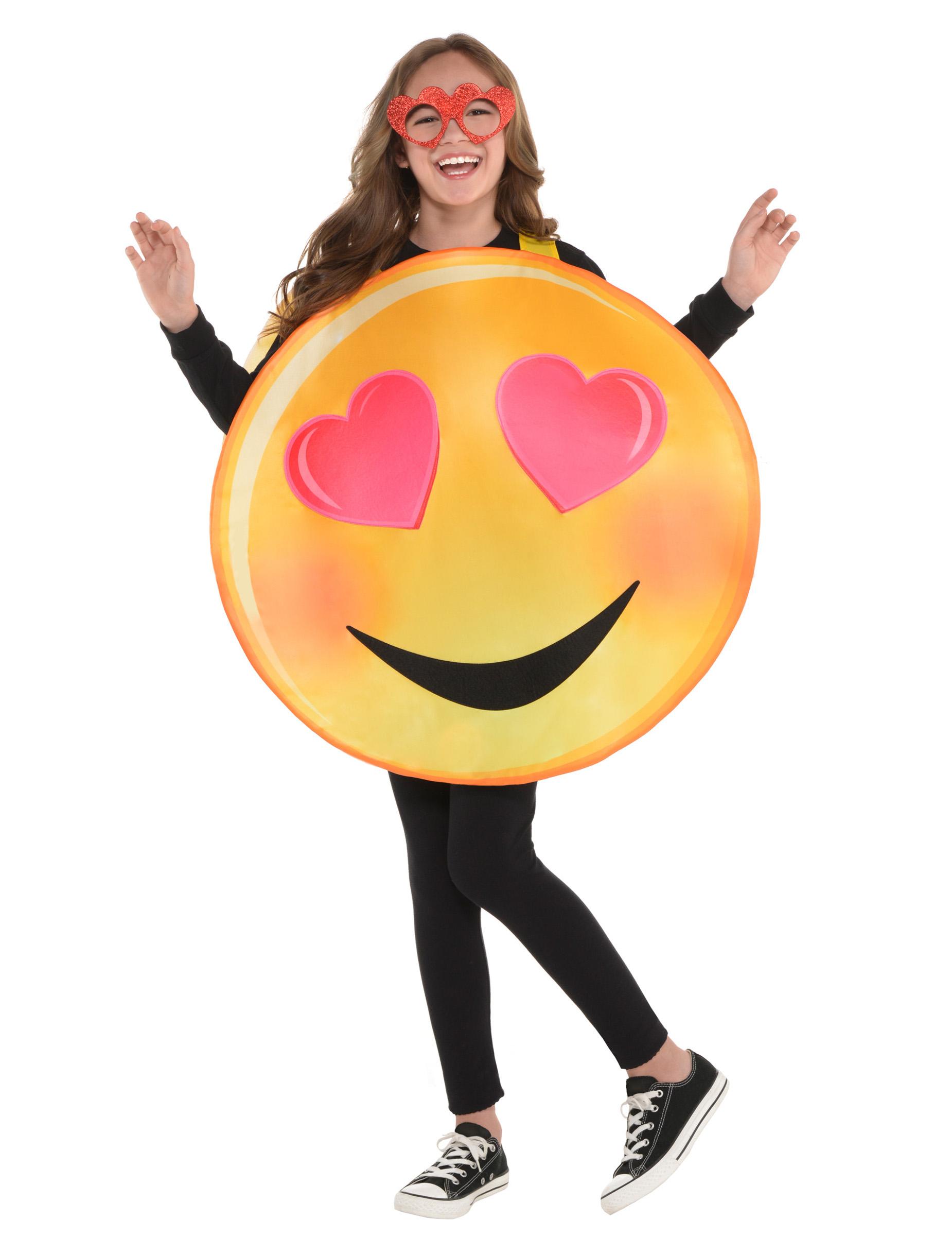 Liebes Smiley-Verkleidung für Kinder gelb-rot