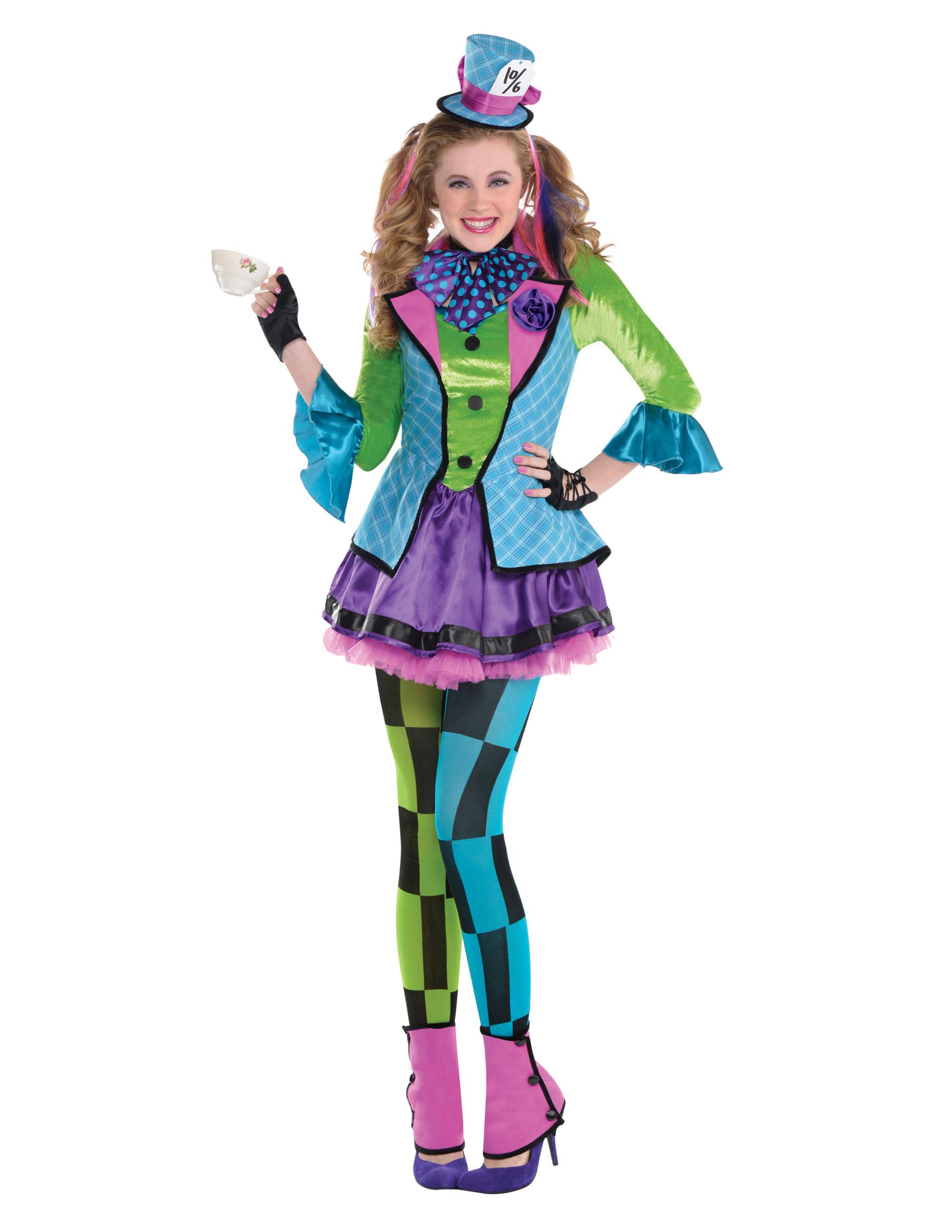 Hutmacherin Fur Teenager Clown Kostum Bunt Kostume Fur Kinder Und