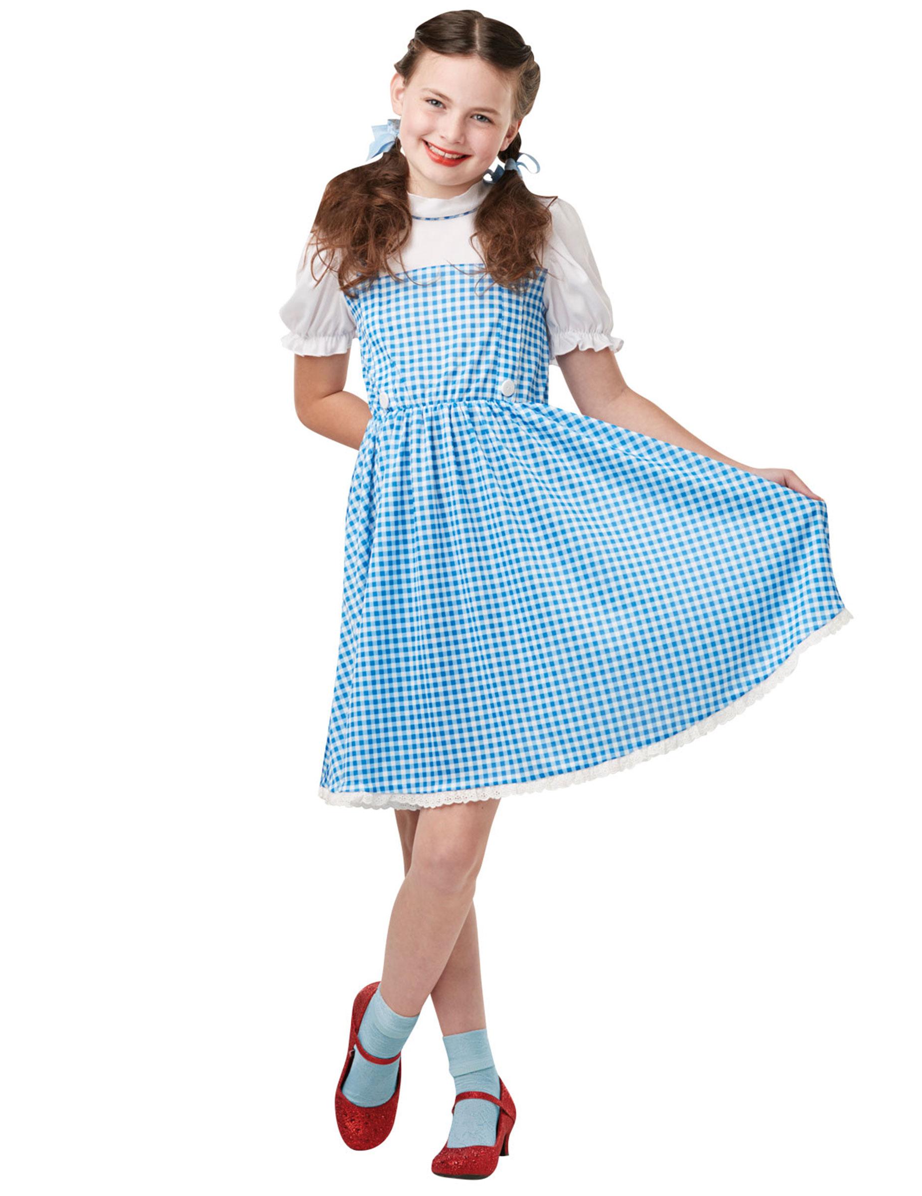 #Dorothy™-Lizenzkostüm für Kinder Der Zauberer von Oz™ blau-weiss#