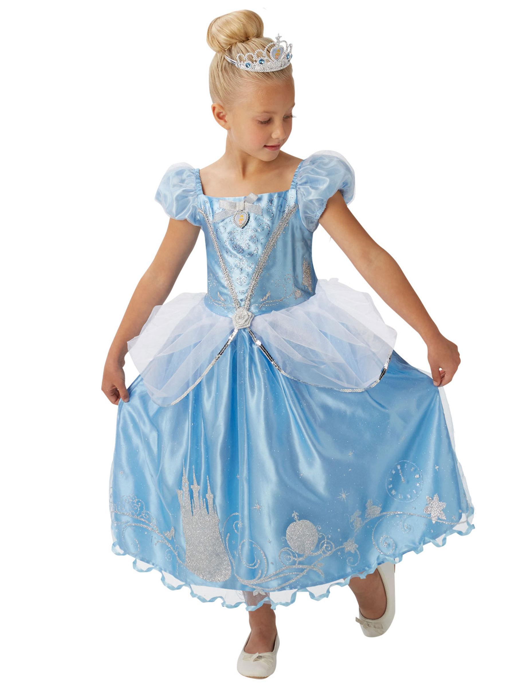 Cinderella Disney™ Kostüm für Mädchen blau silber