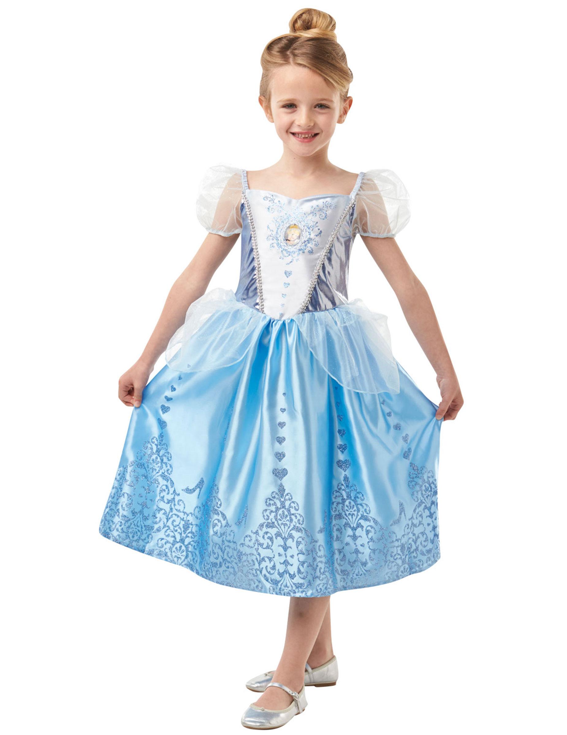 #Disney™-Cinderella Prinzessinnen-Kostüm für Mädchen blau-lila#