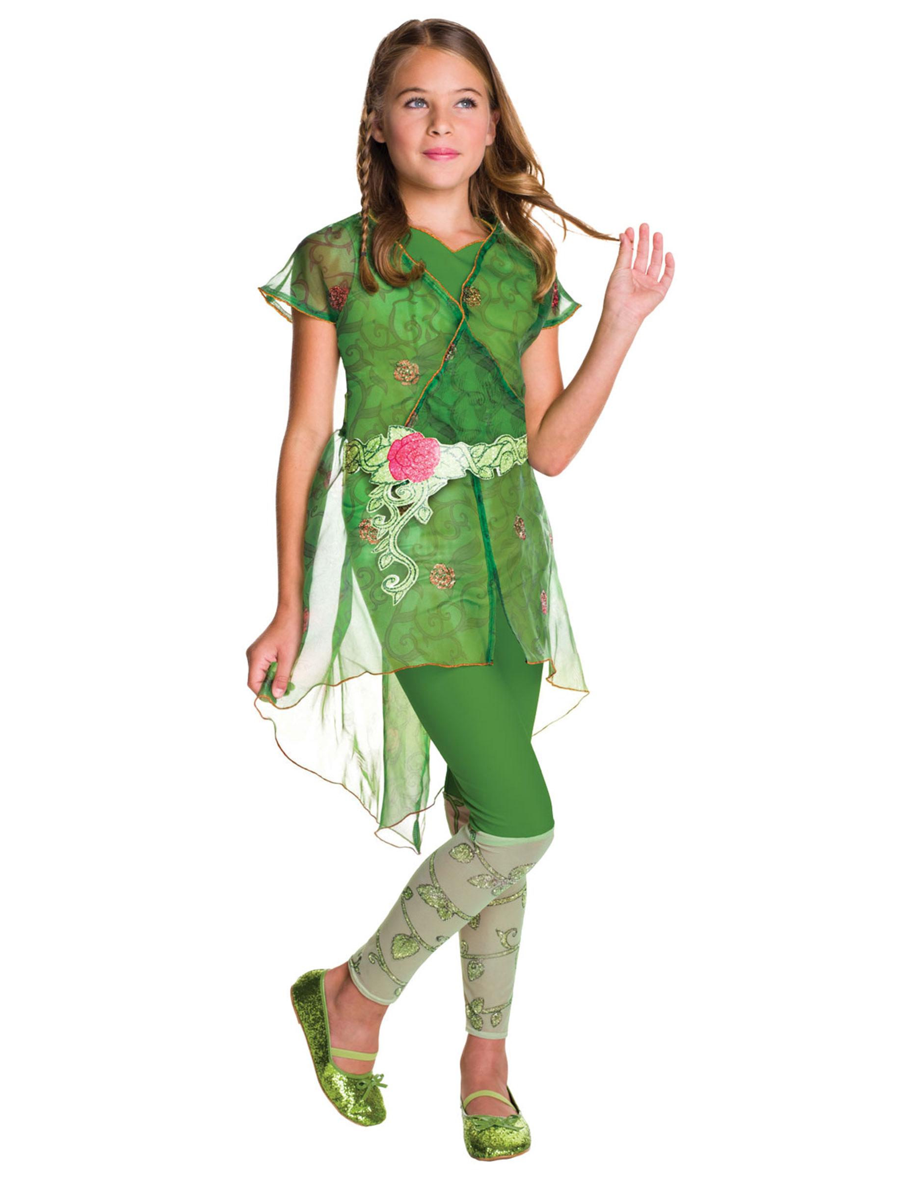 #Poison Ivy™ Super Hero Mädchenkostüm Lizenz grün#