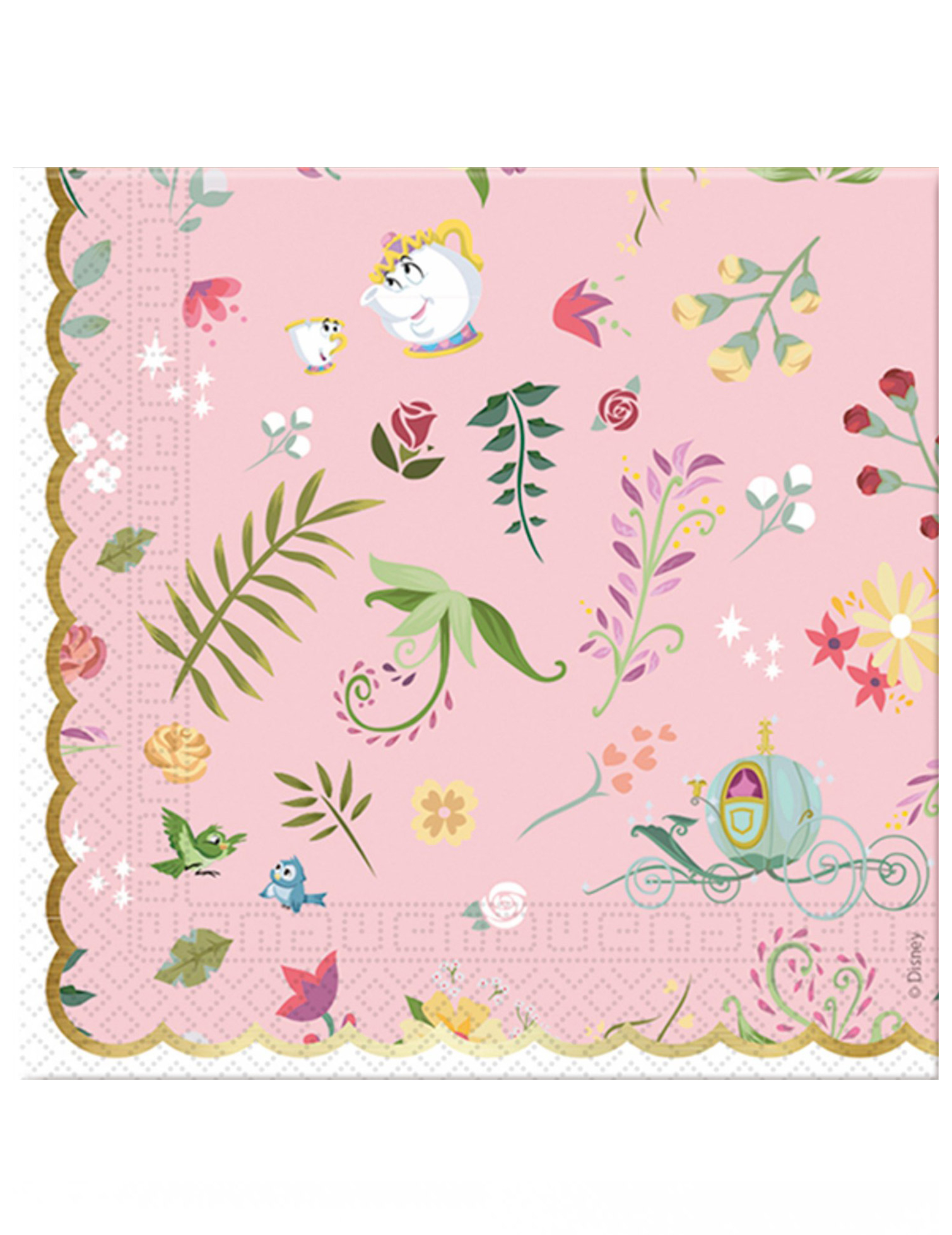 #Disney™-Prinzessinnen Papierservietten 20 Stück bunt 33x33cm#