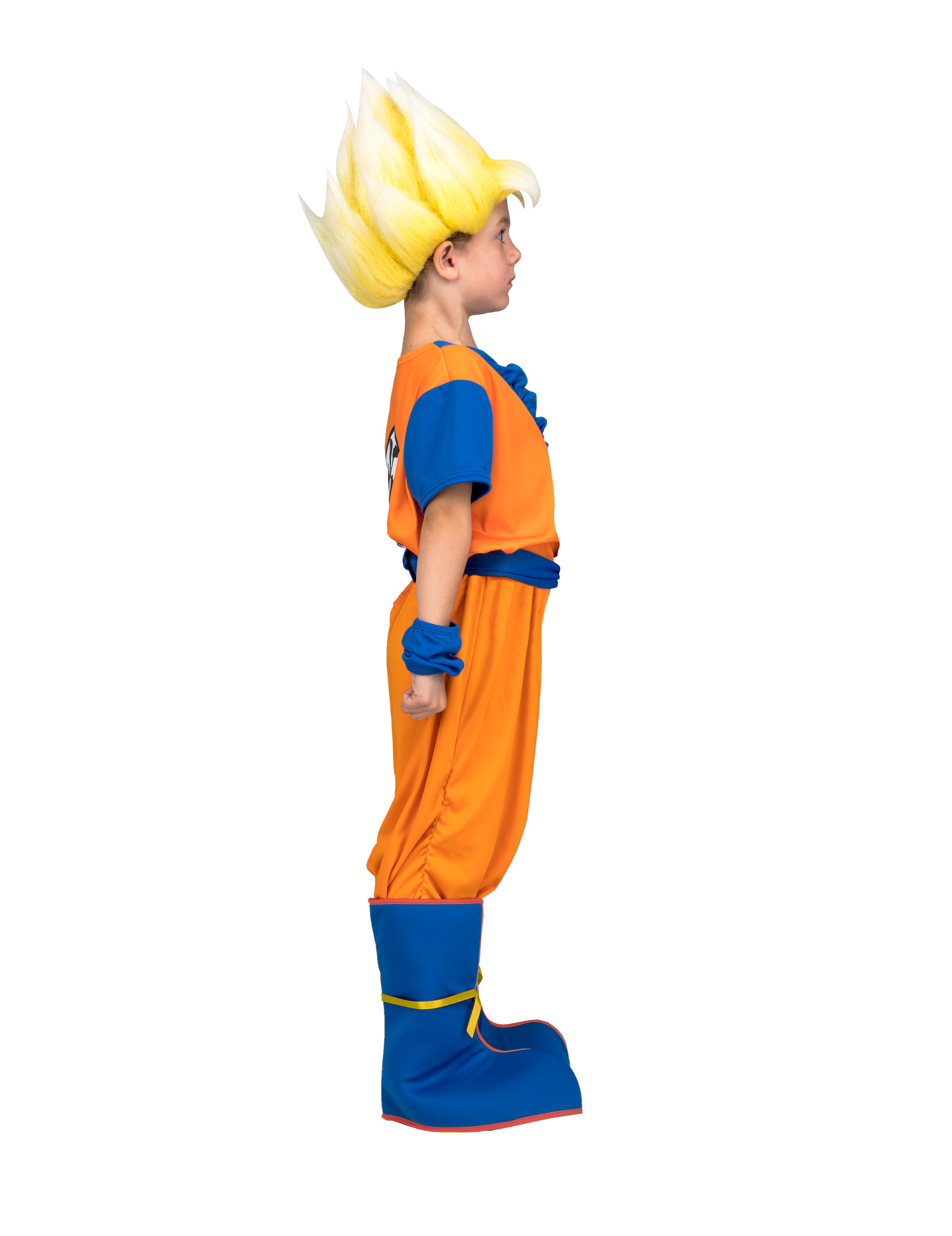 Super Saiyan Goku Dragon Ball-Lizenzkostüm für Kinder orange-blau Cod.318237