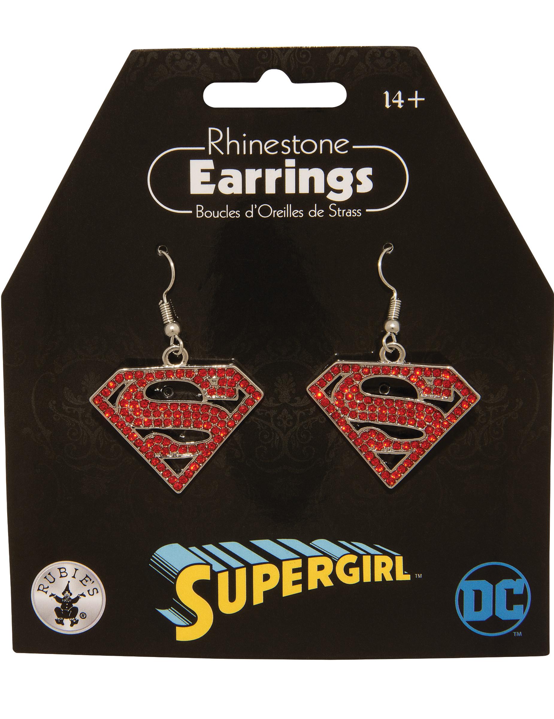 Supergirl-Ohrringe für Damen Schmuck rot 285766
