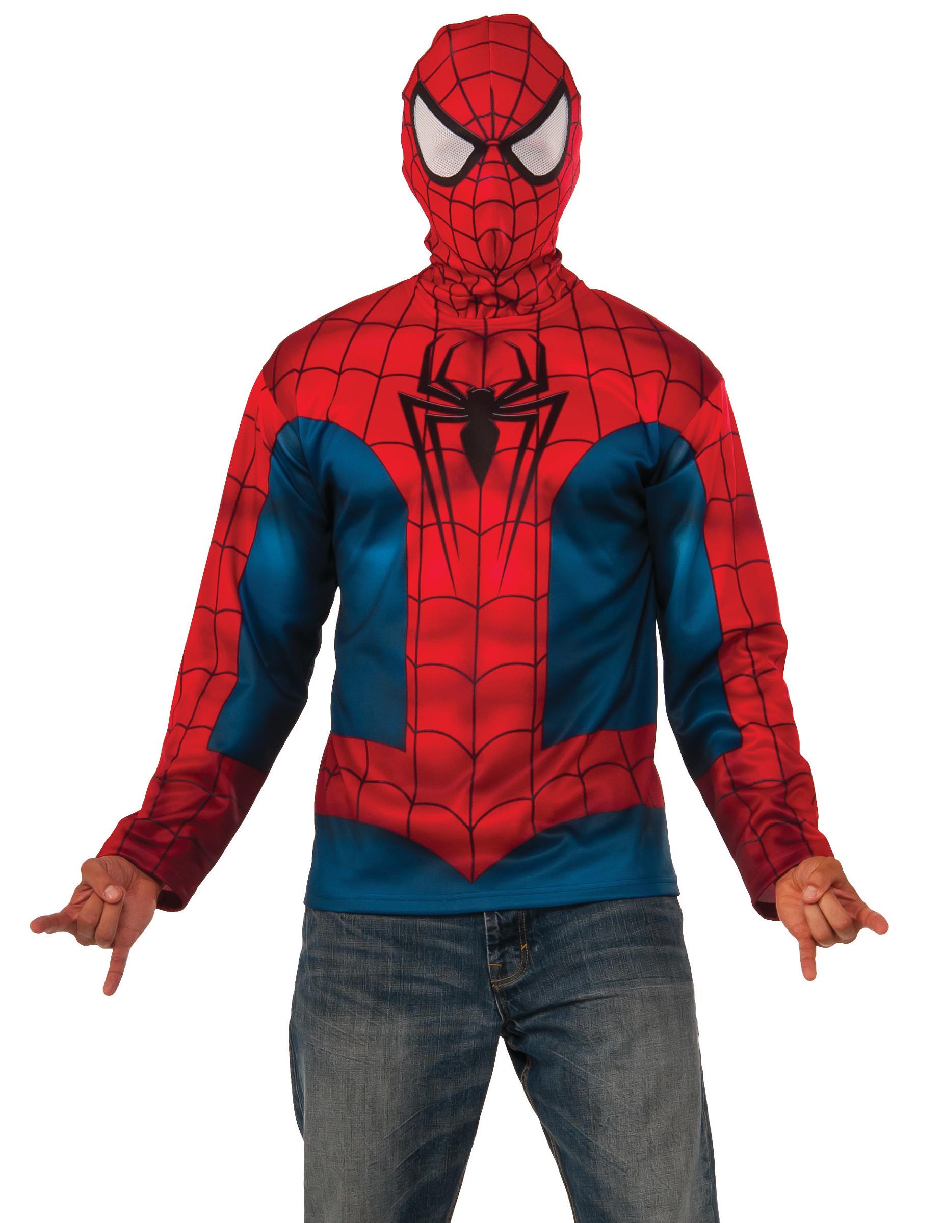 Spider Man™ Hoodie für Erwachsene Lizenz Blau rot: Kostüme